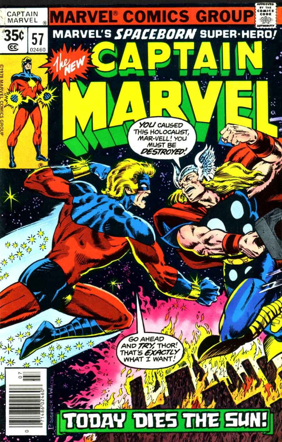 Captain Marvel (1968) issue 57 - Page 1