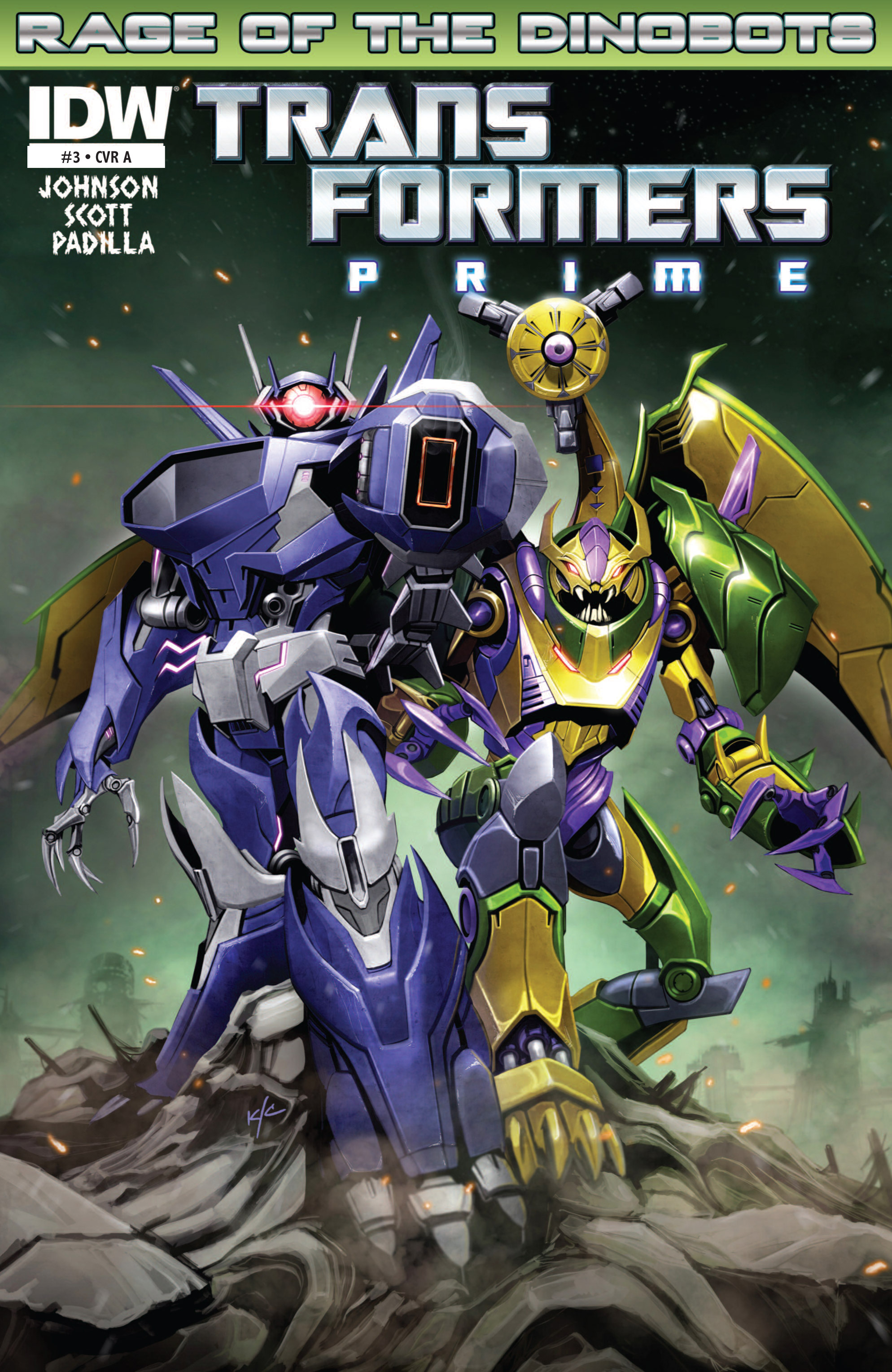 The Transformers Prime: Rage of the Dinobots 3 Page 1