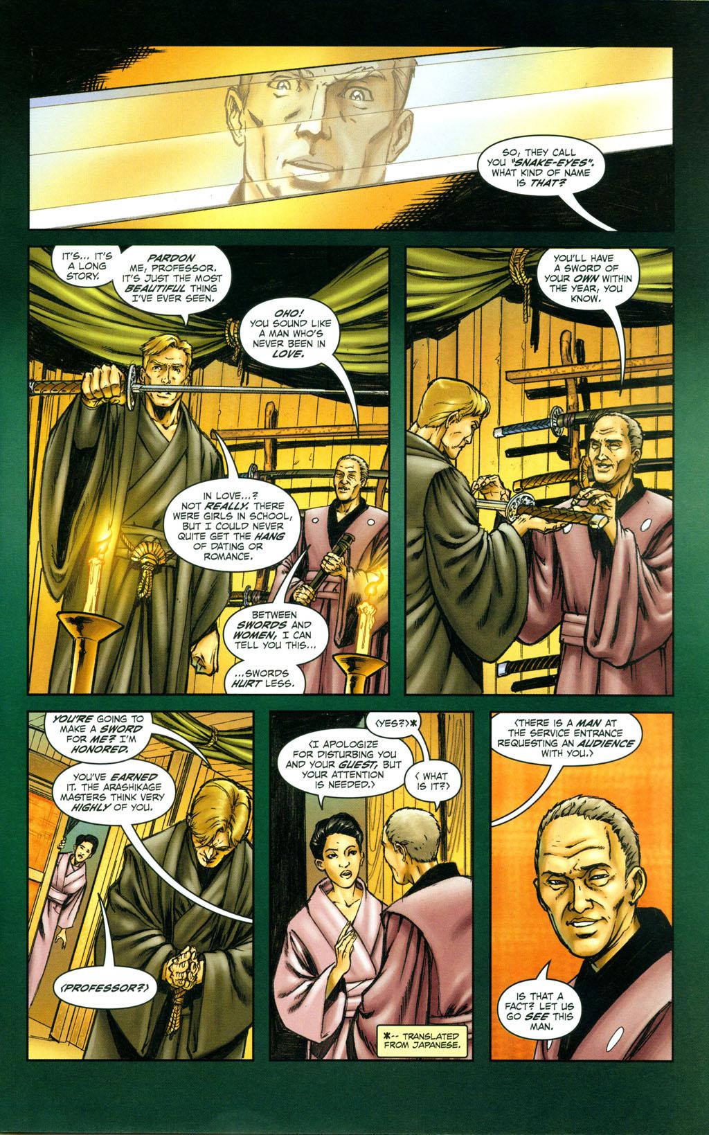 Read online Snake Eyes: Declassified comic -  Issue #4 - 8