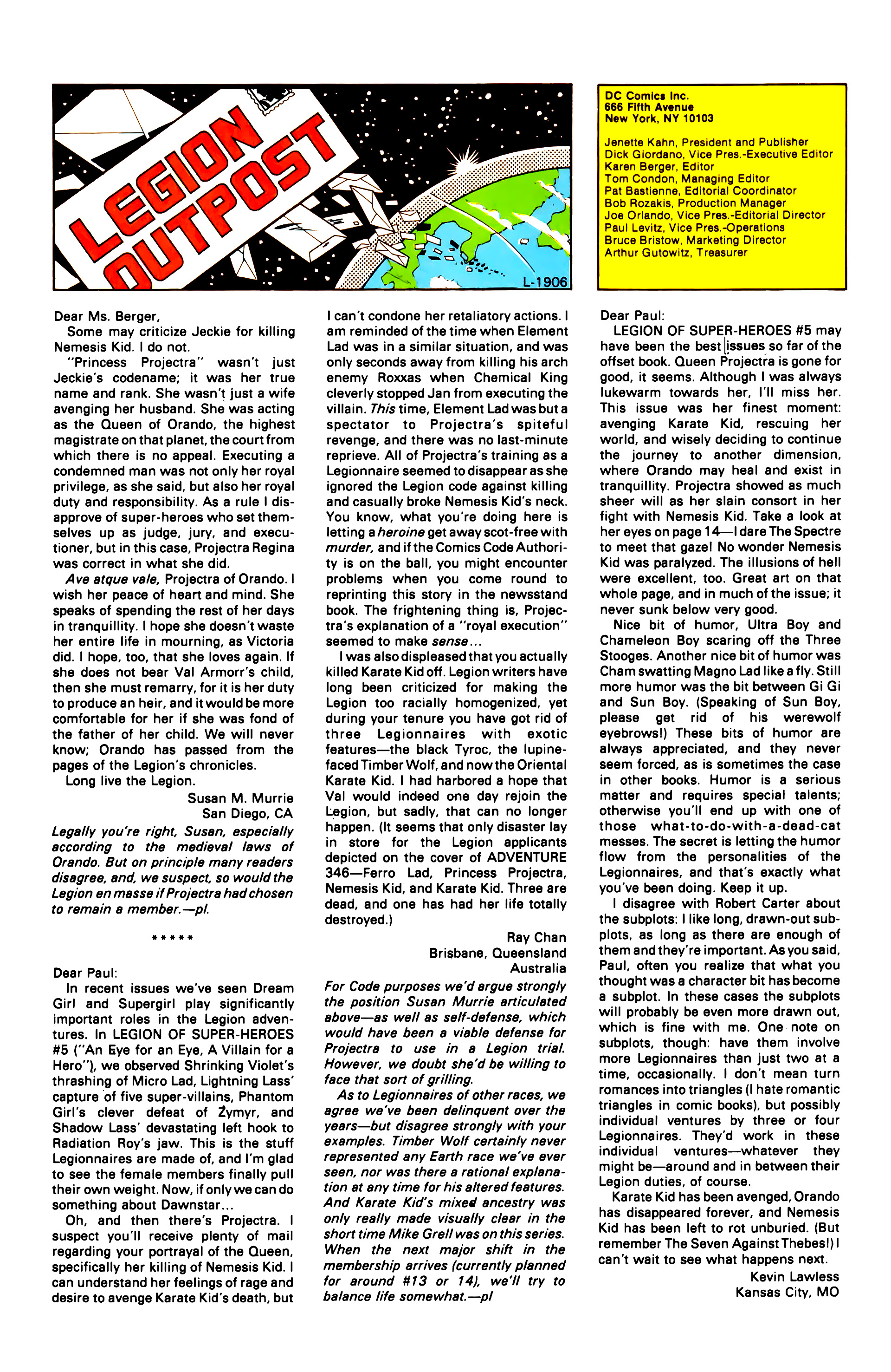 Legion of Super-Heroes (1984) 10 Page 25