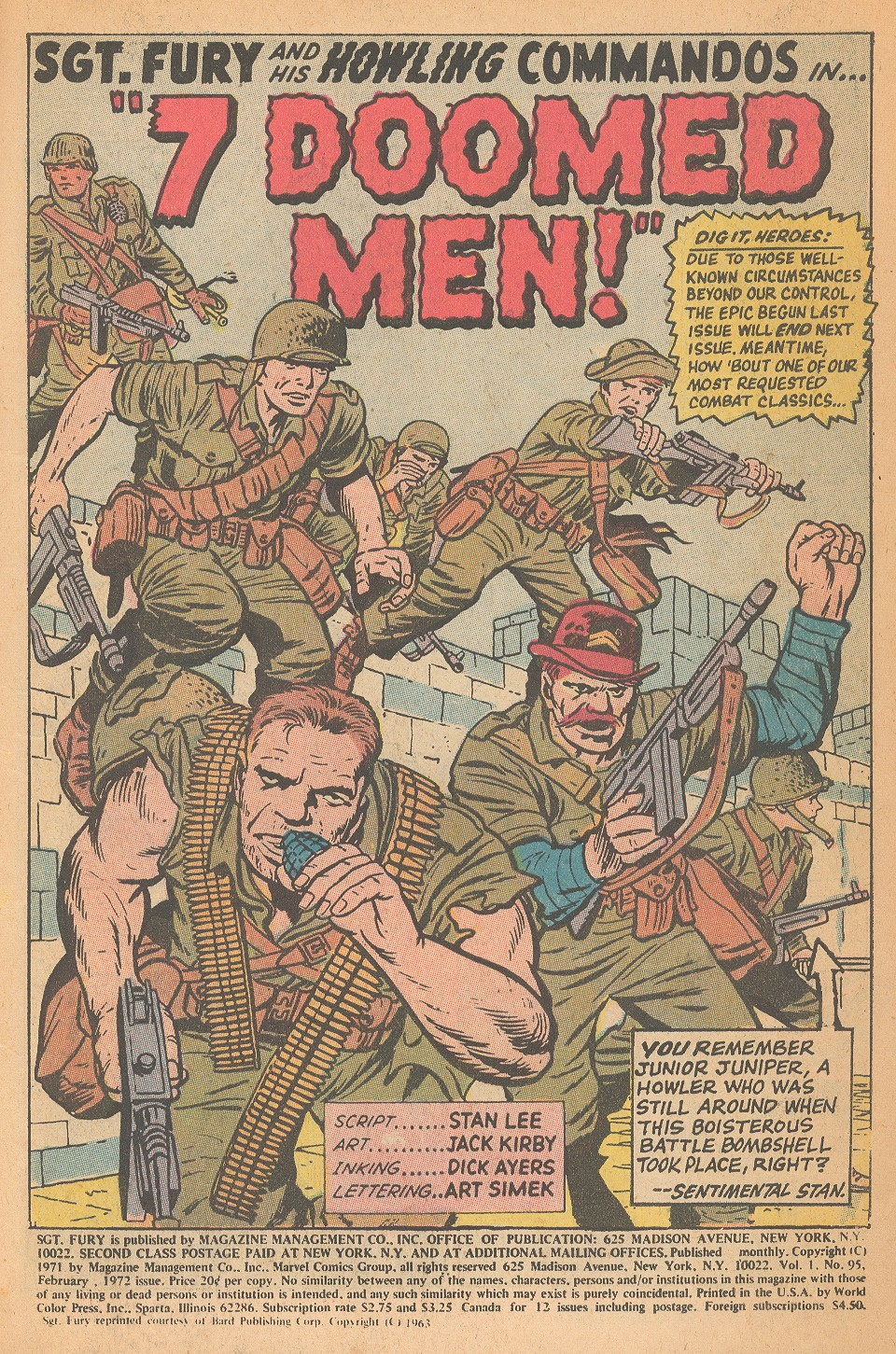 Read online Sgt. Fury comic -  Issue #95 - 3