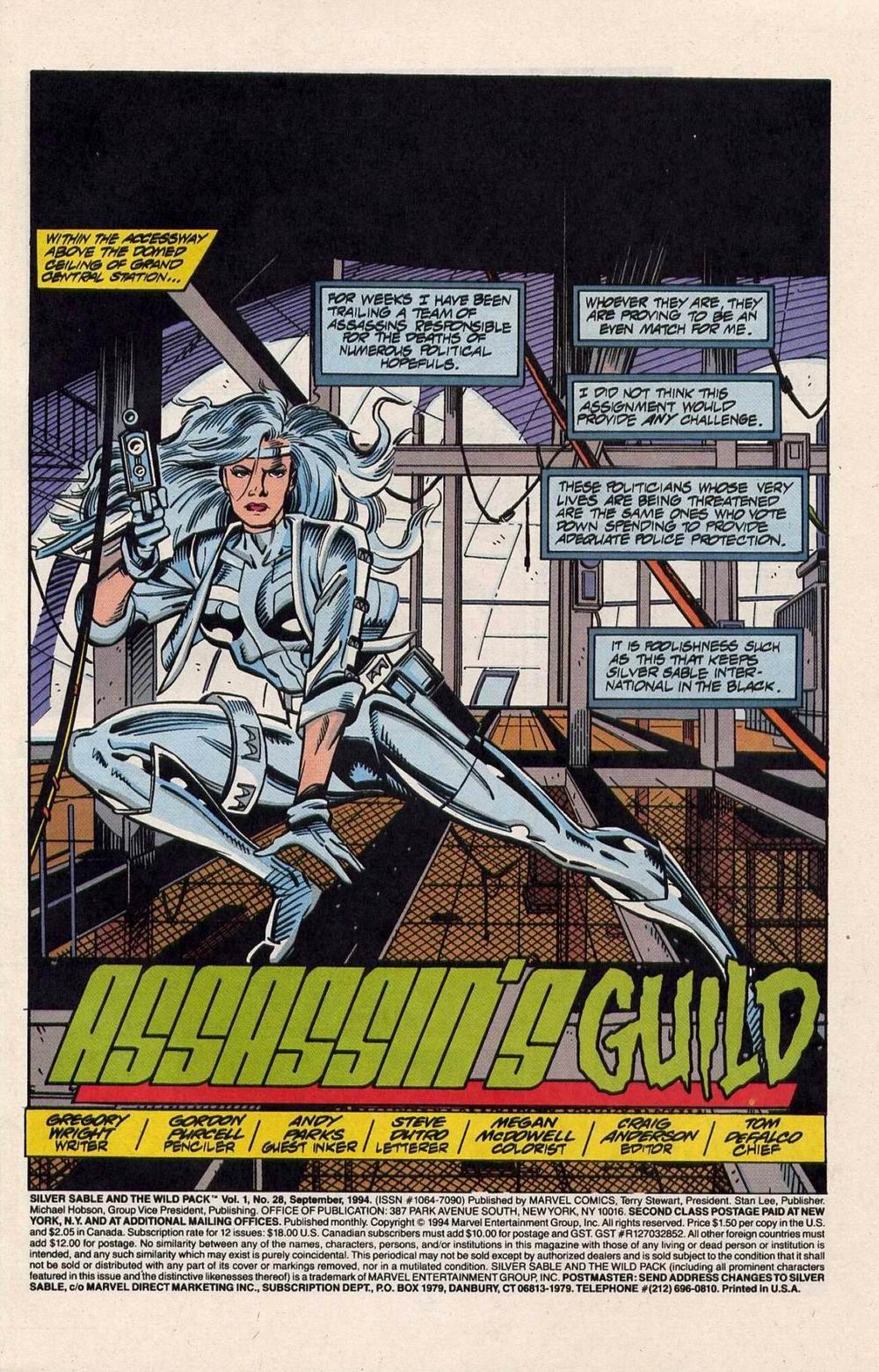 Read online Silver Sable and the Wild Pack comic -  Issue #28 - 2