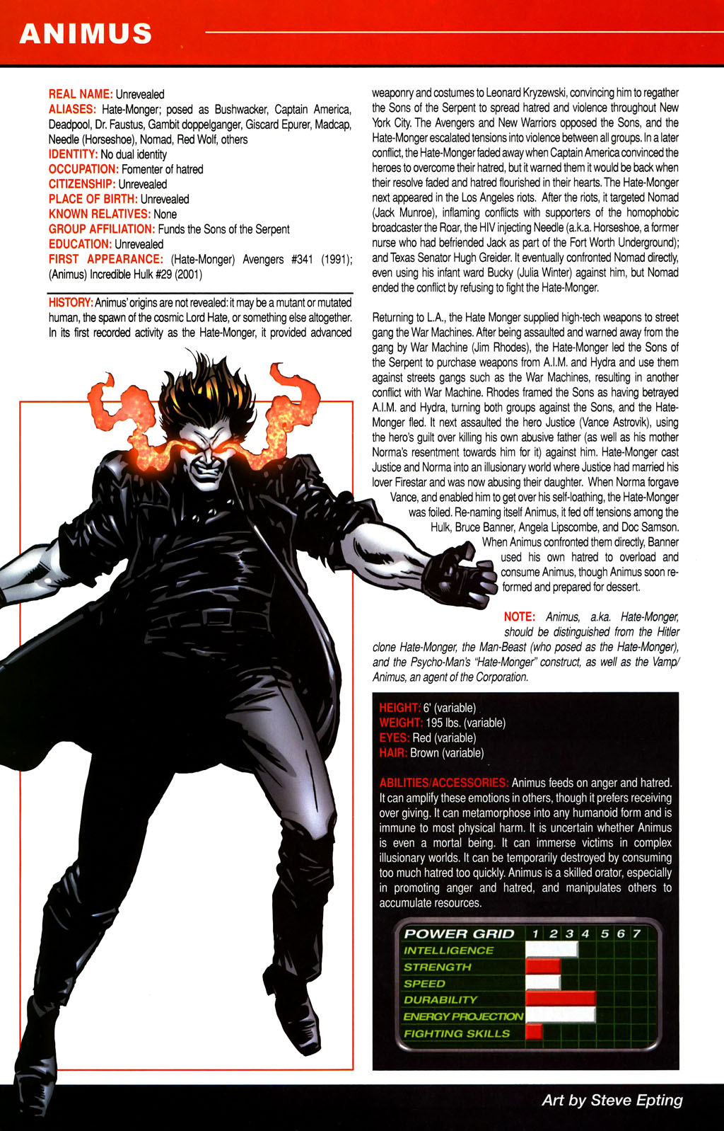 Read online All-New Official Handbook of the Marvel Universe A to Z comic -  Issue #1 - 24