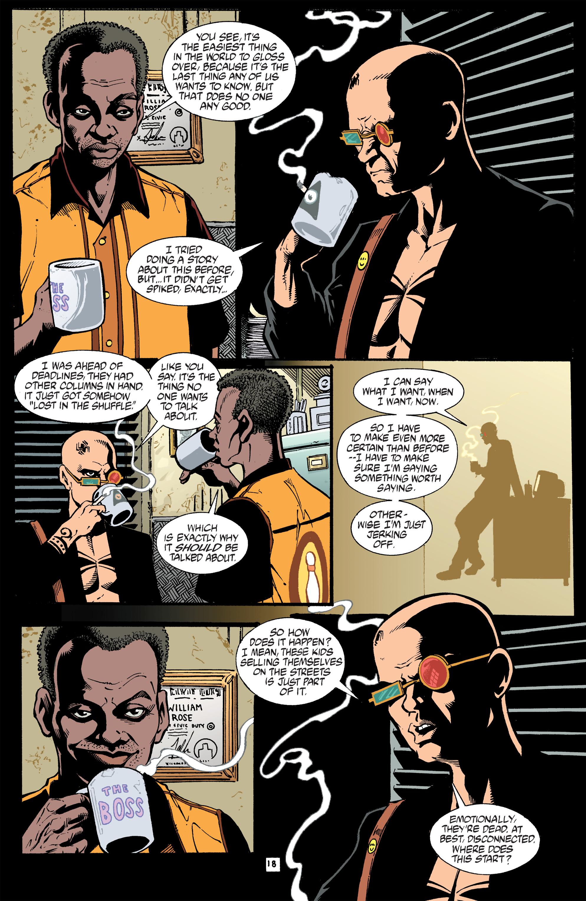 Read online Transmetropolitan comic -  Issue #40 - 19