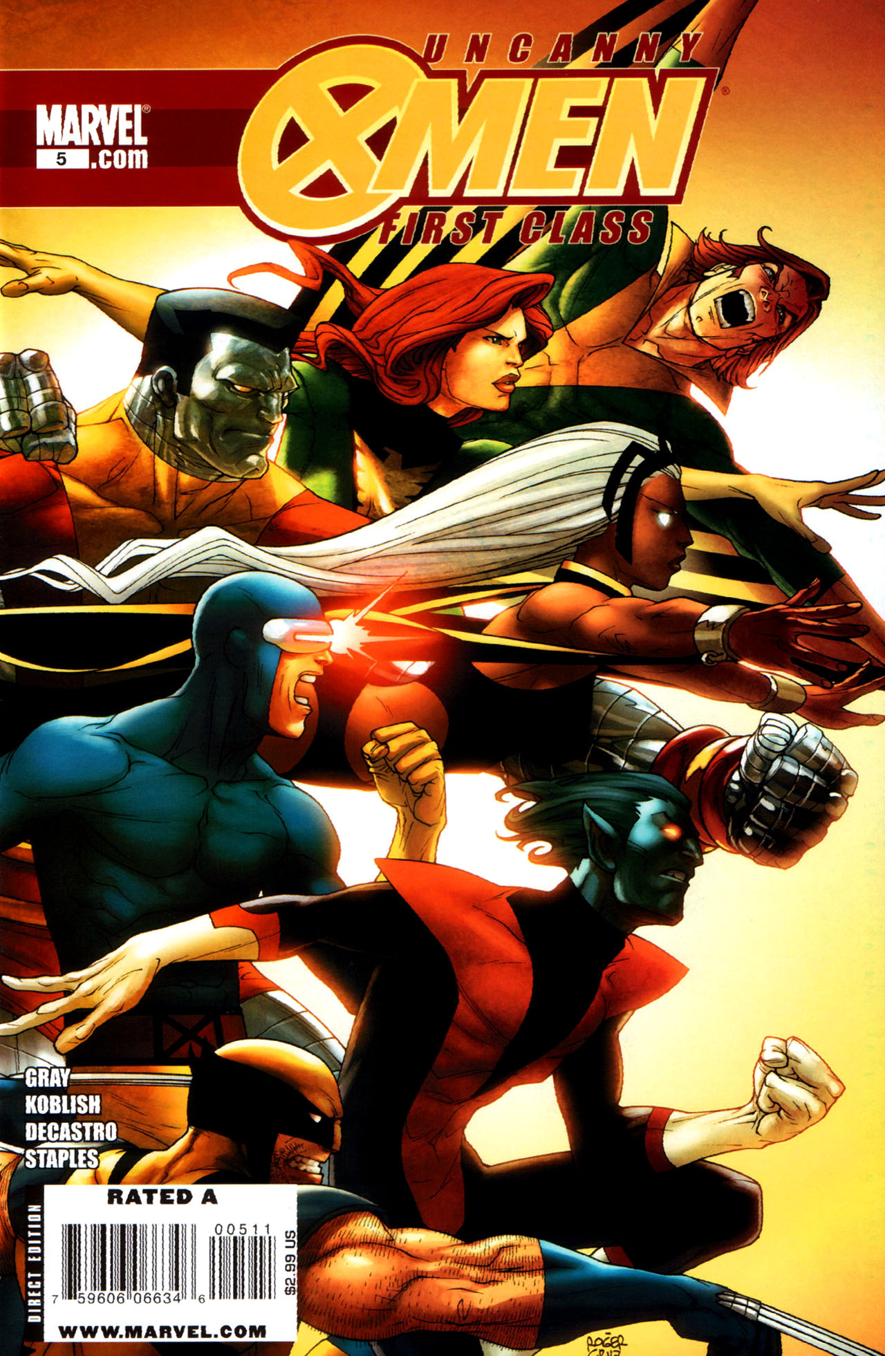 Read online Uncanny X-Men: First Class comic -  Issue #5 - 1