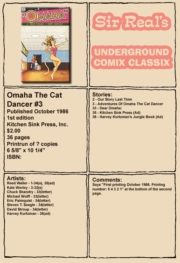 Omaha the Cat Dancer (1986) 3 Page 1
