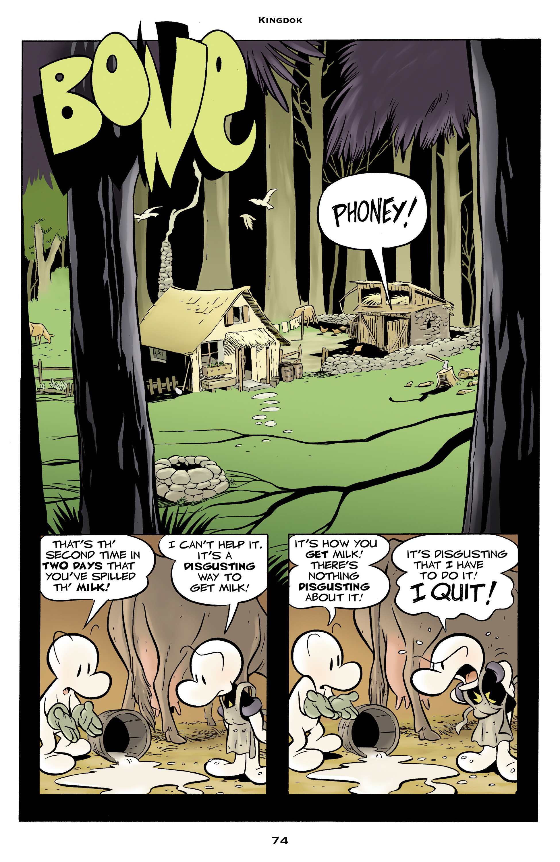Read online Bone: Out From Boneville comic -  Issue # TPB - 74