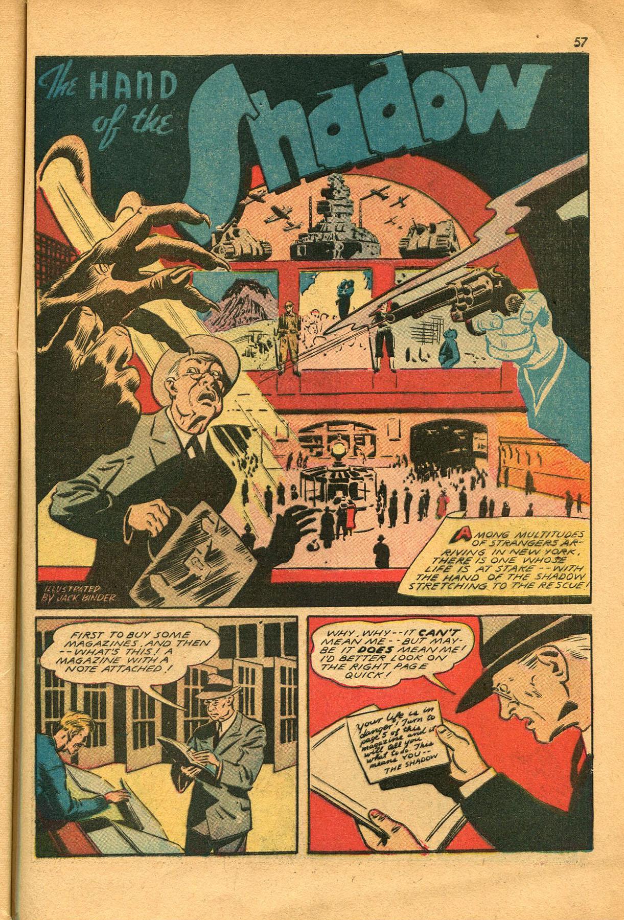 Read online Shadow Comics comic -  Issue #23 - 57