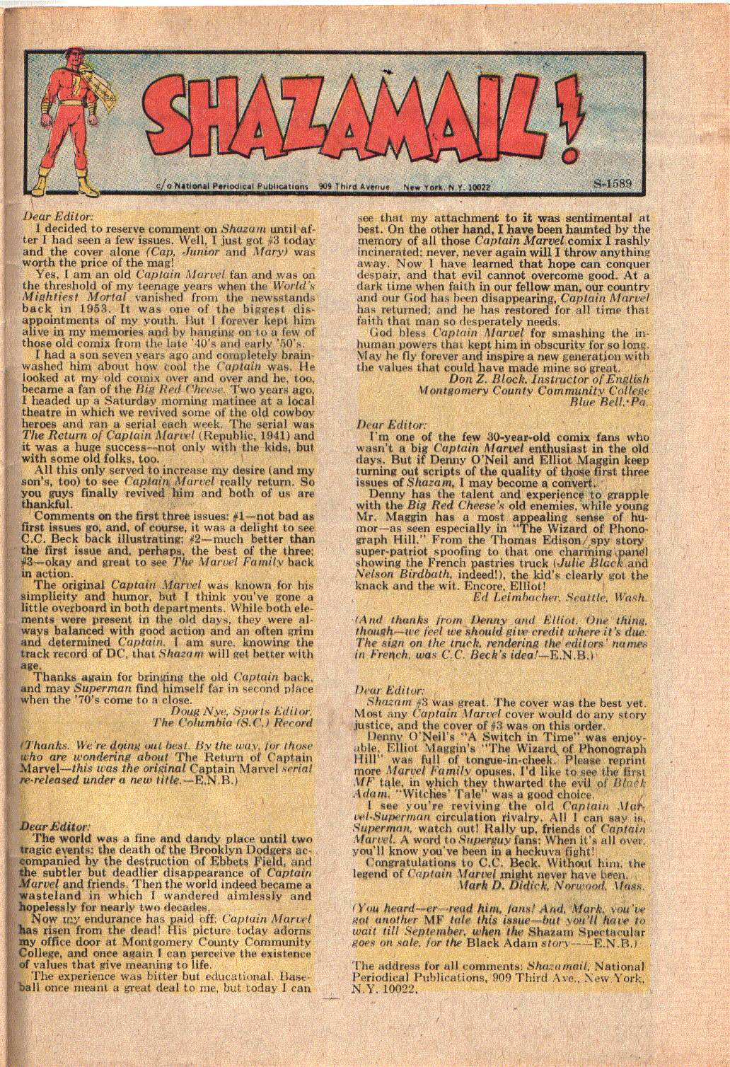 Read online Shazam! (1973) comic -  Issue #6 - 33