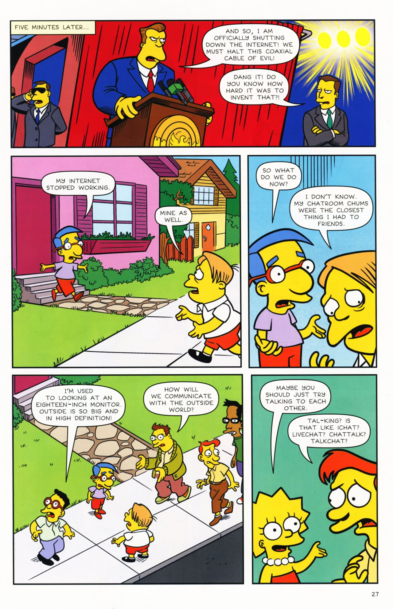 Read online Bongo Comics presents Comic Book Guy: The Comic Book comic -  Issue #2 - 28