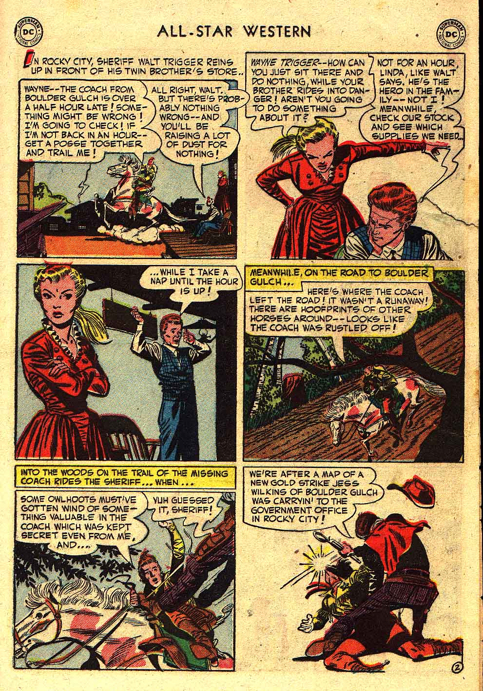 Read online All-Star Western (1951) comic -  Issue #62 - 25