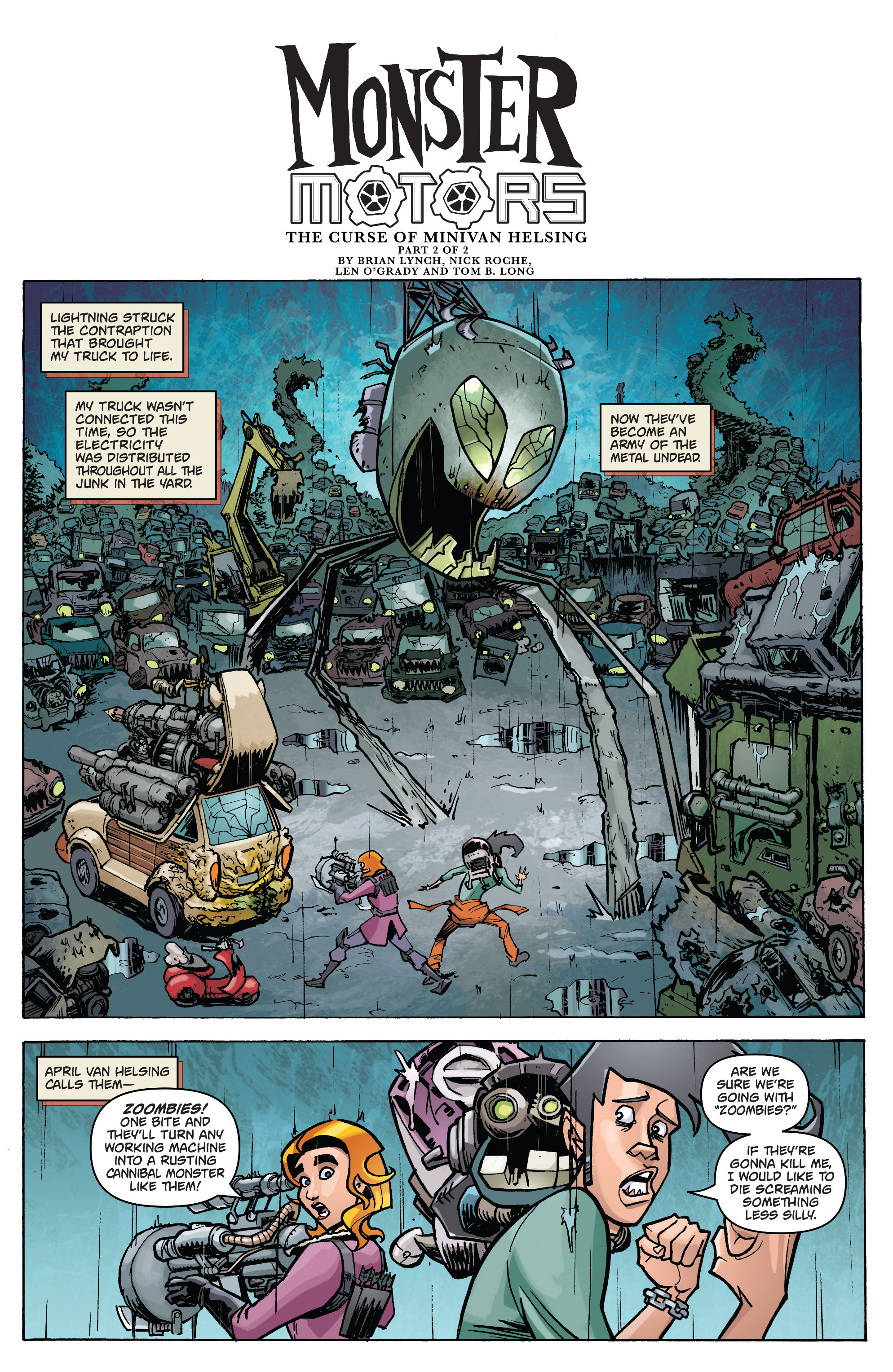 Read online Monster Motors: The Curse of Minivan Helsing comic -  Issue #2 - 3