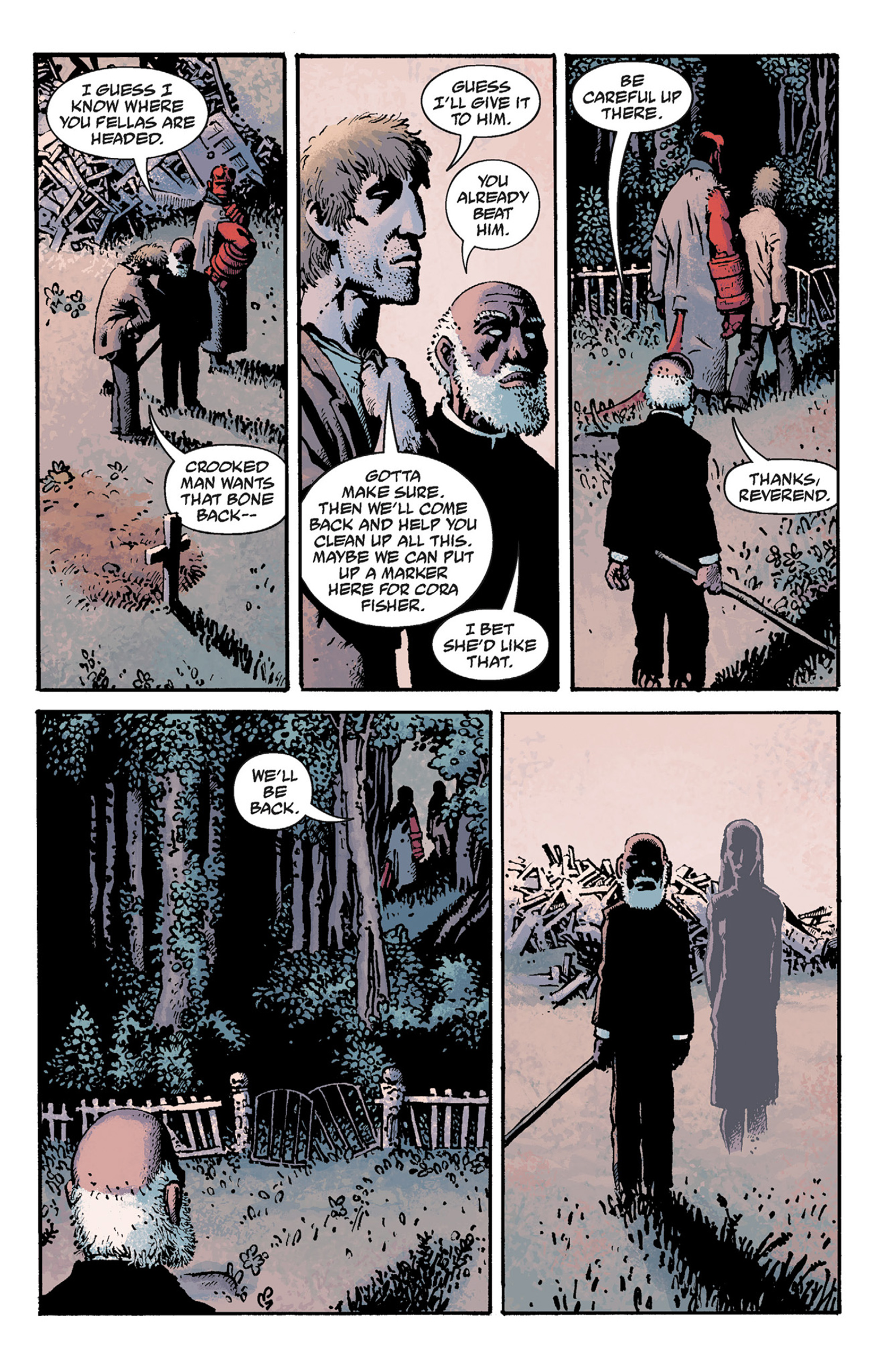 Read online Hellboy: The Crooked Man and Others comic -  Issue # TPB - 77