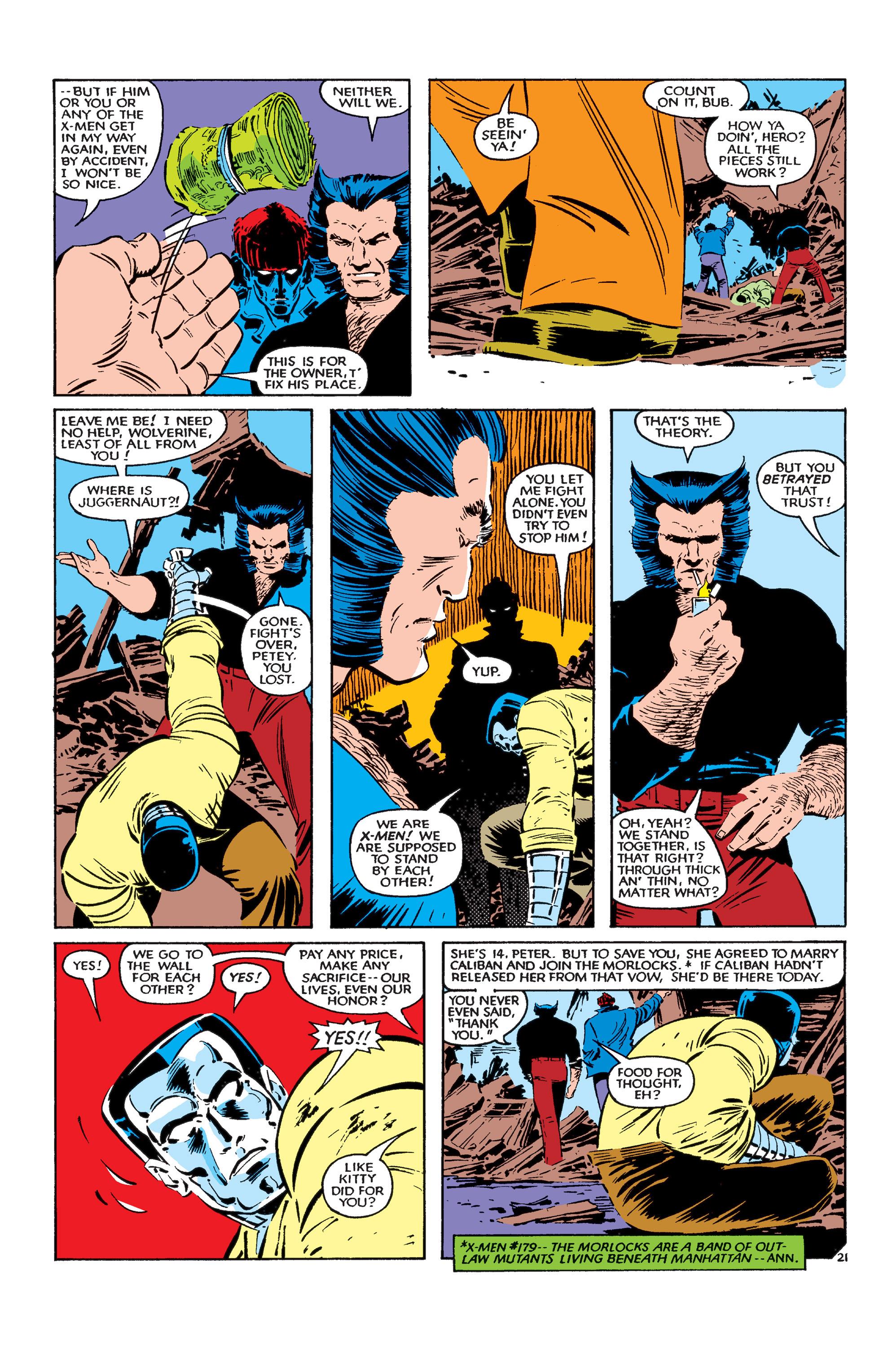 Read online Uncanny X-Men (1963) comic -  Issue #183 - 22