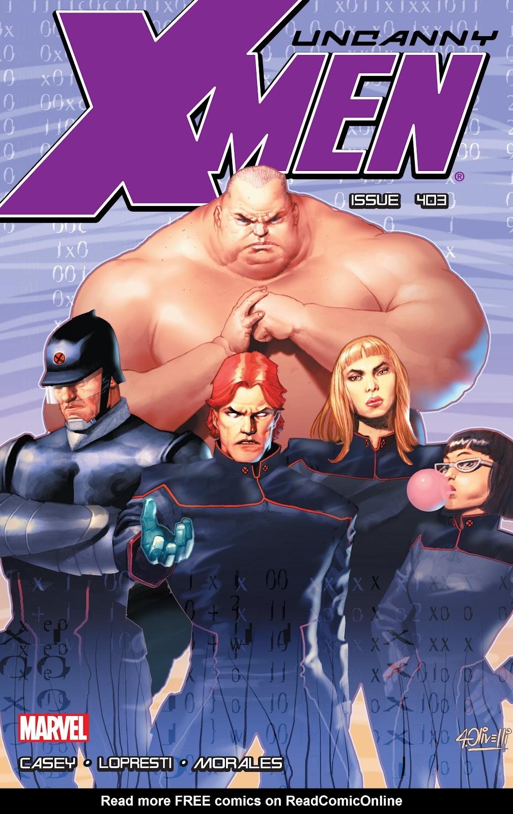 Uncanny X-Men (1963) issue 403 - Page 1