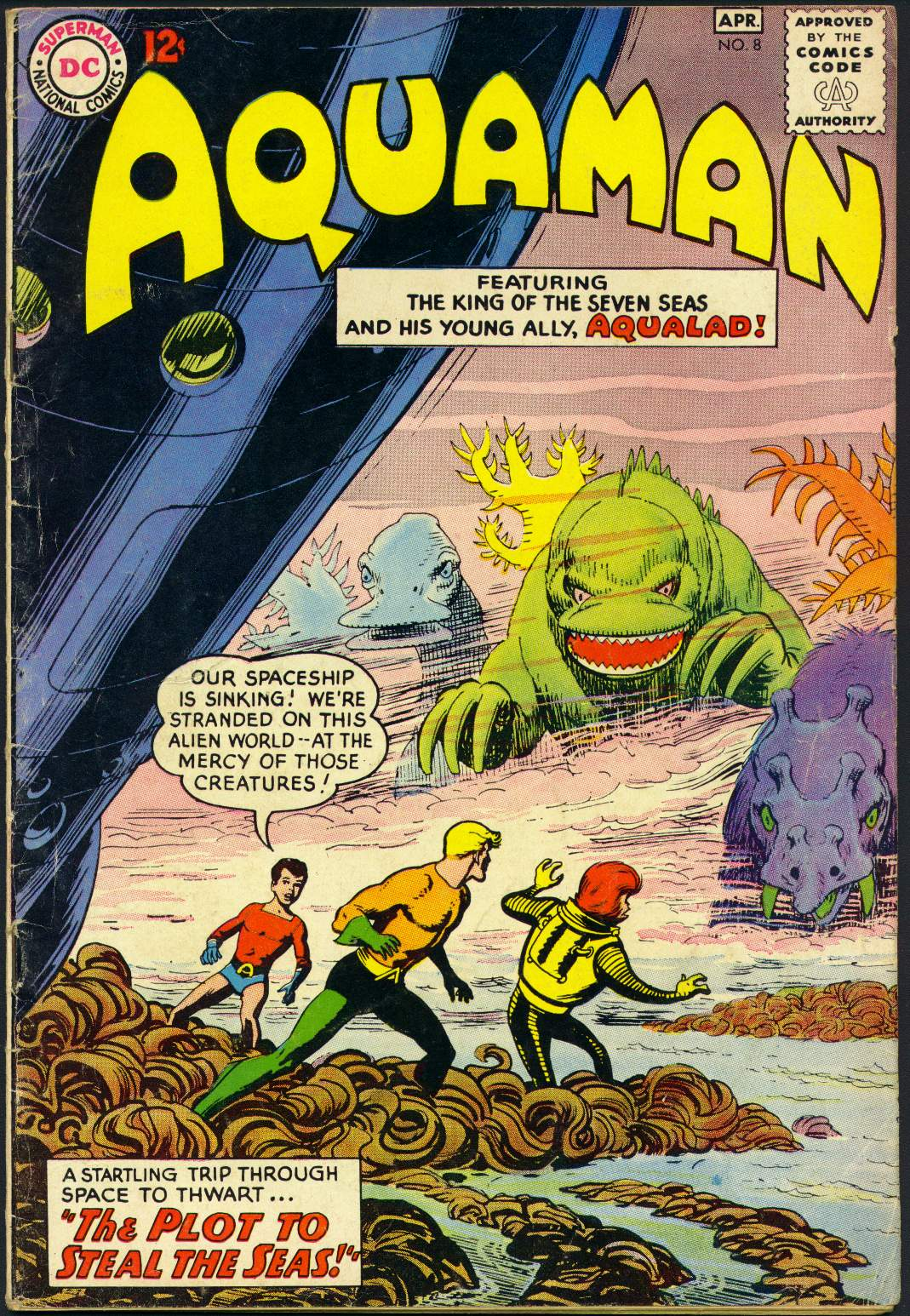Read online Aquaman (1962) comic -  Issue #8 - 1
