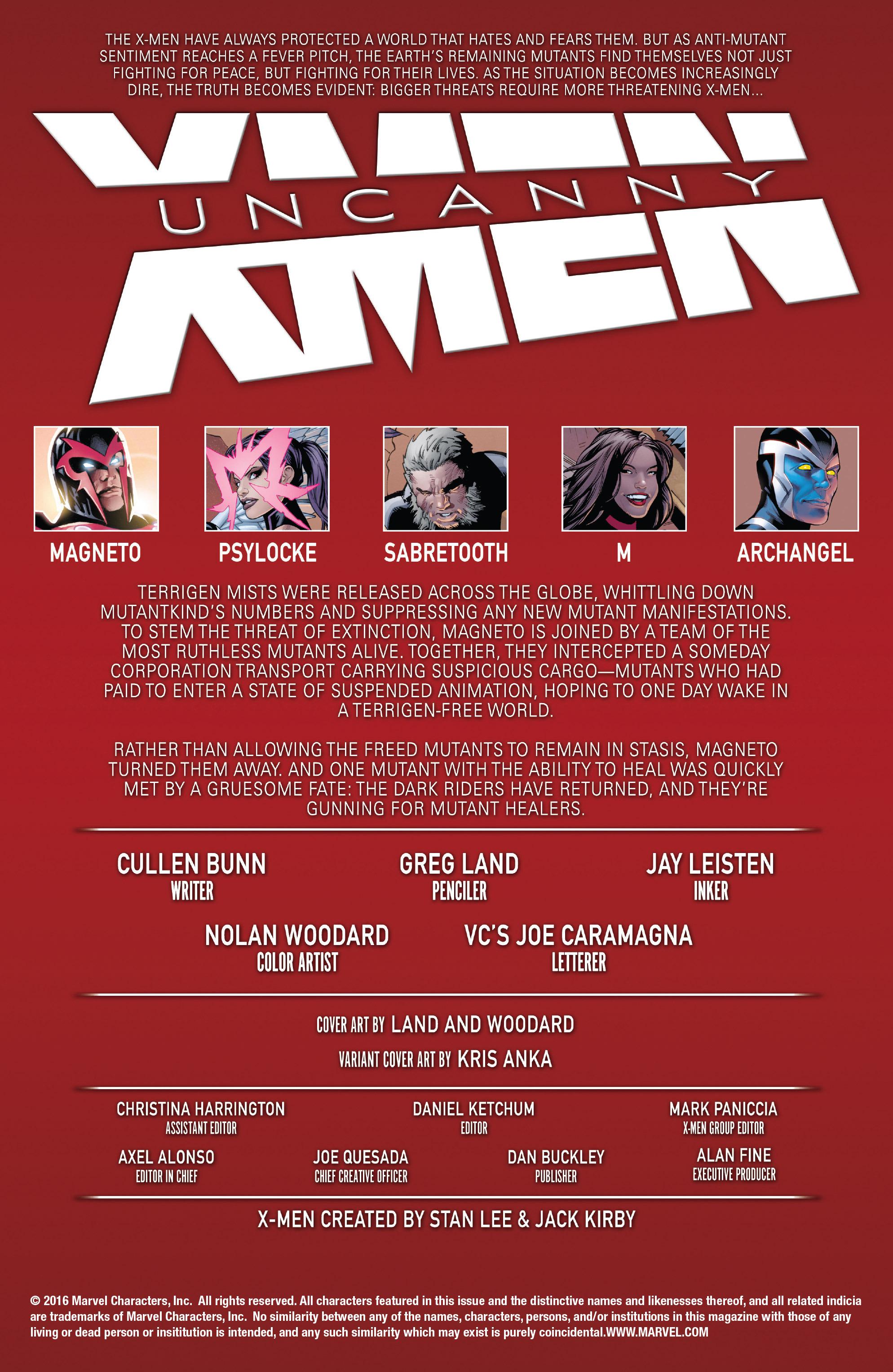 Read online Uncanny X-Men (2016) comic -  Issue #2 - 2