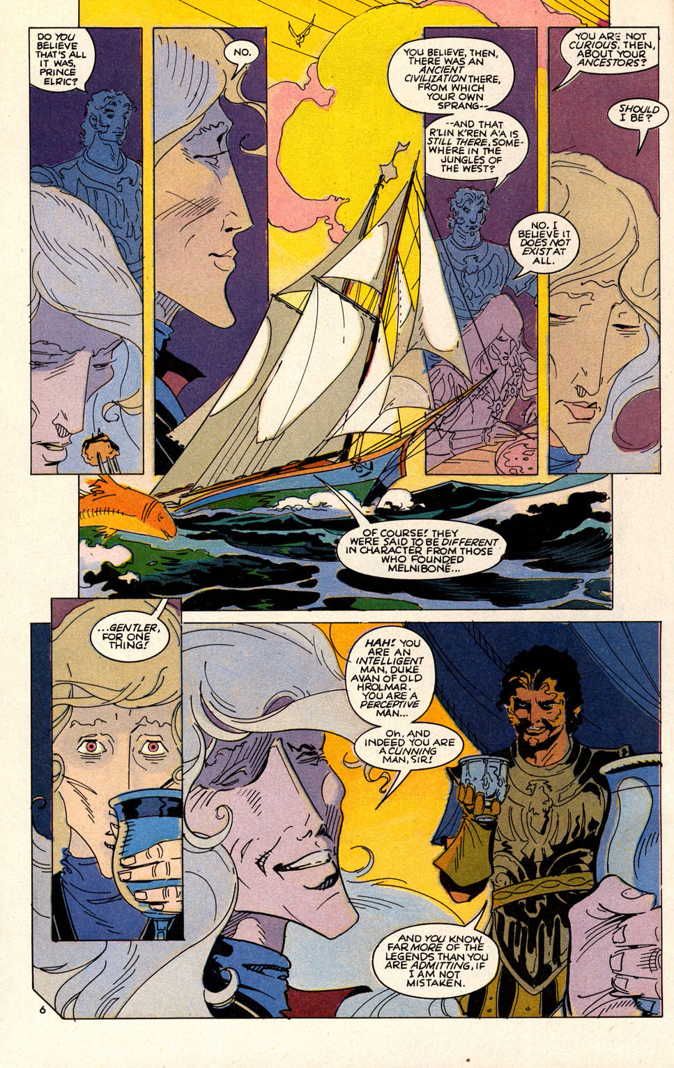 Read online Elric: Sailor on the Seas of Fate comic -  Issue #6 - 8