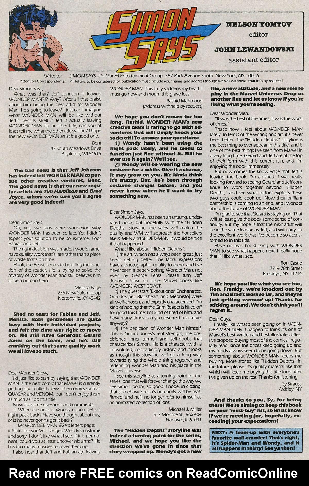 Read online Wonder Man (1991) comic -  Issue #27 - 24