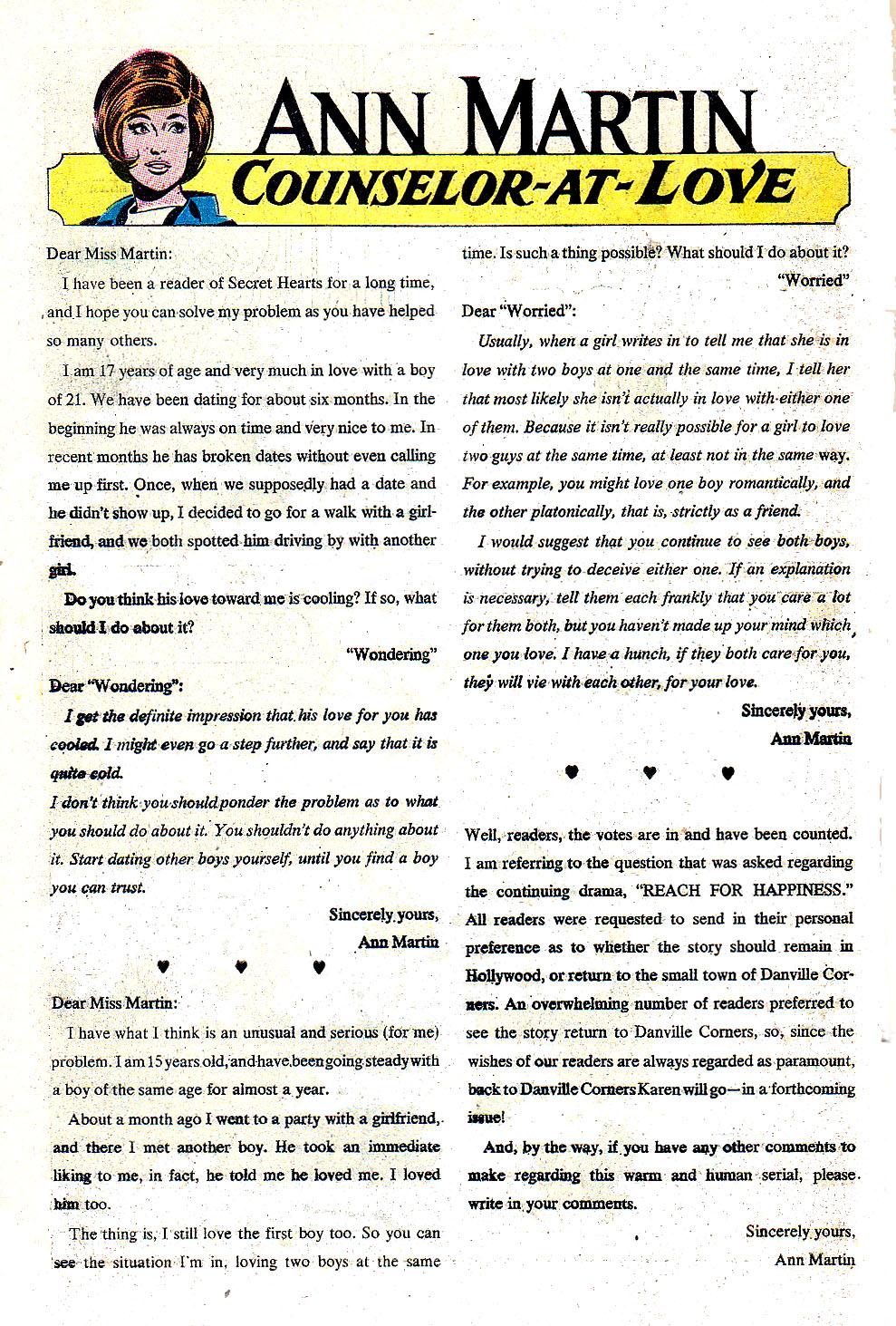 Read online Secret Hearts comic -  Issue #131 - 34