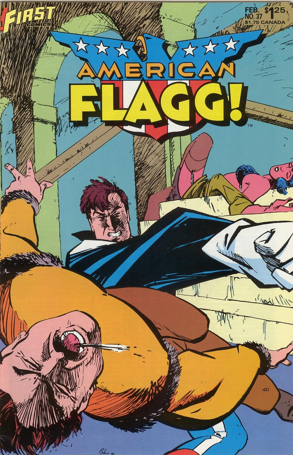 Read online American Flagg! comic -  Issue #37 - 1