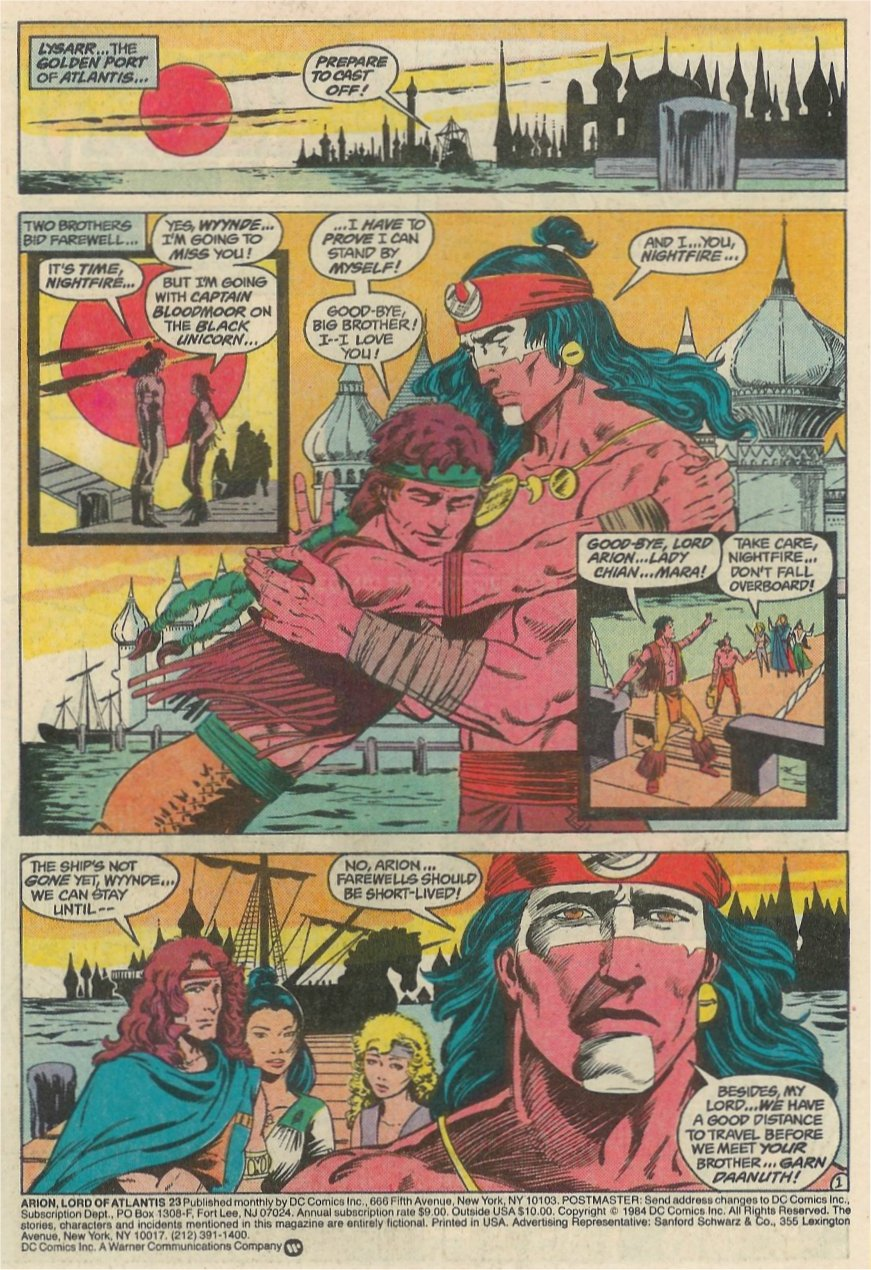 Read online Arion, Lord of Atlantis comic -  Issue #23 - 2