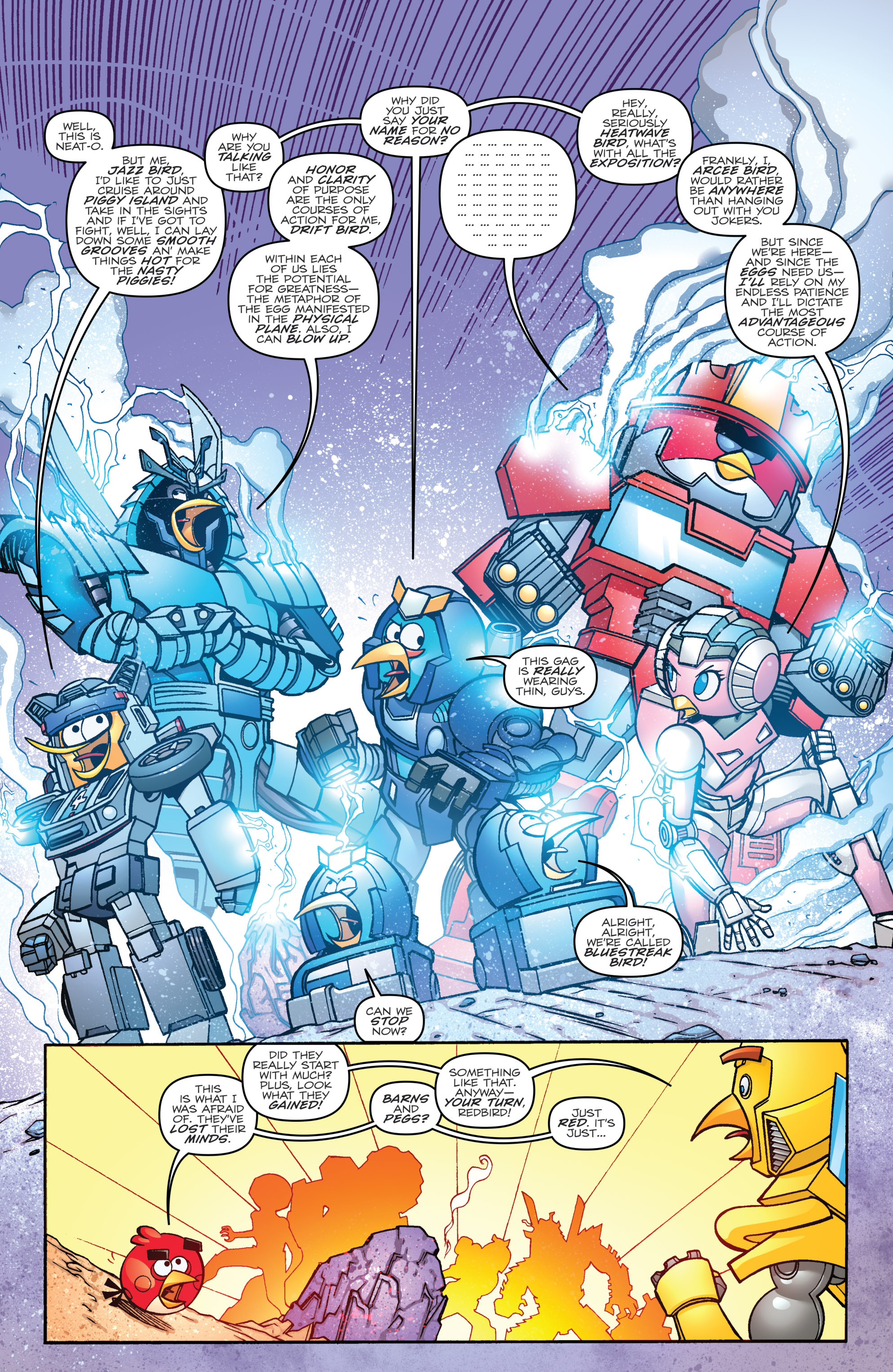 Read online Angry Birds Transformers comic -  Issue #2 - 8