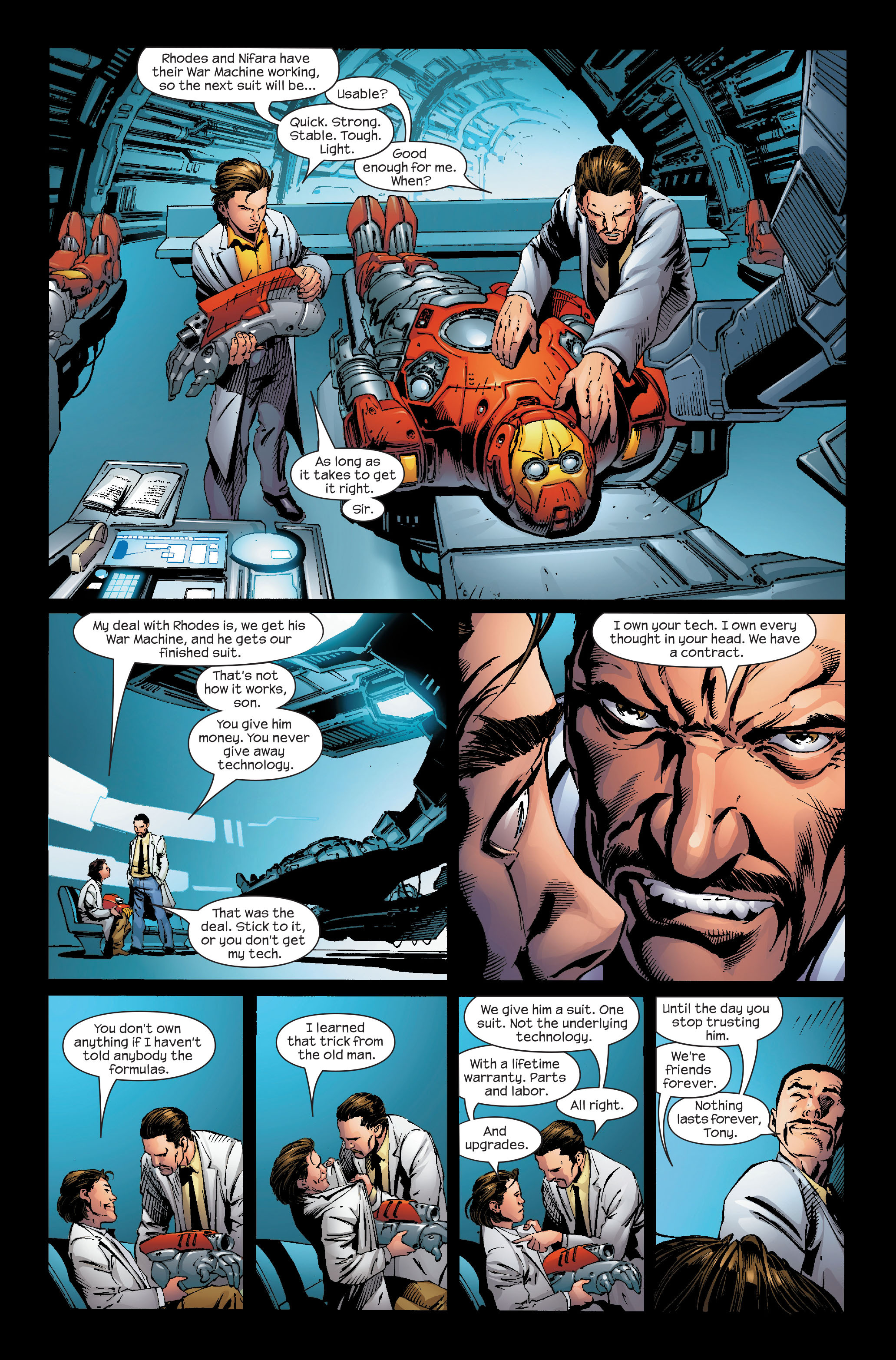 Read online Ultimate Iron Man (2005) comic -  Issue #5 - 7