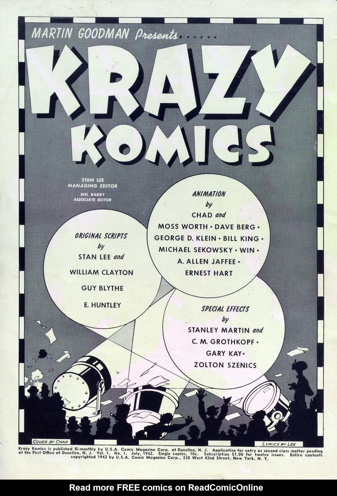 Krazy Komics issue 1 - Page 2