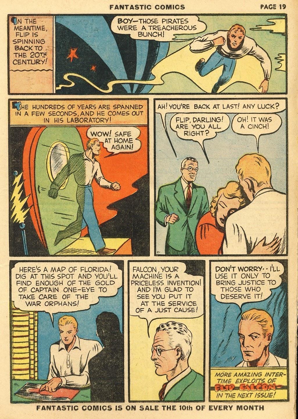 Read online Fantastic Comics comic -  Issue #10 - 20