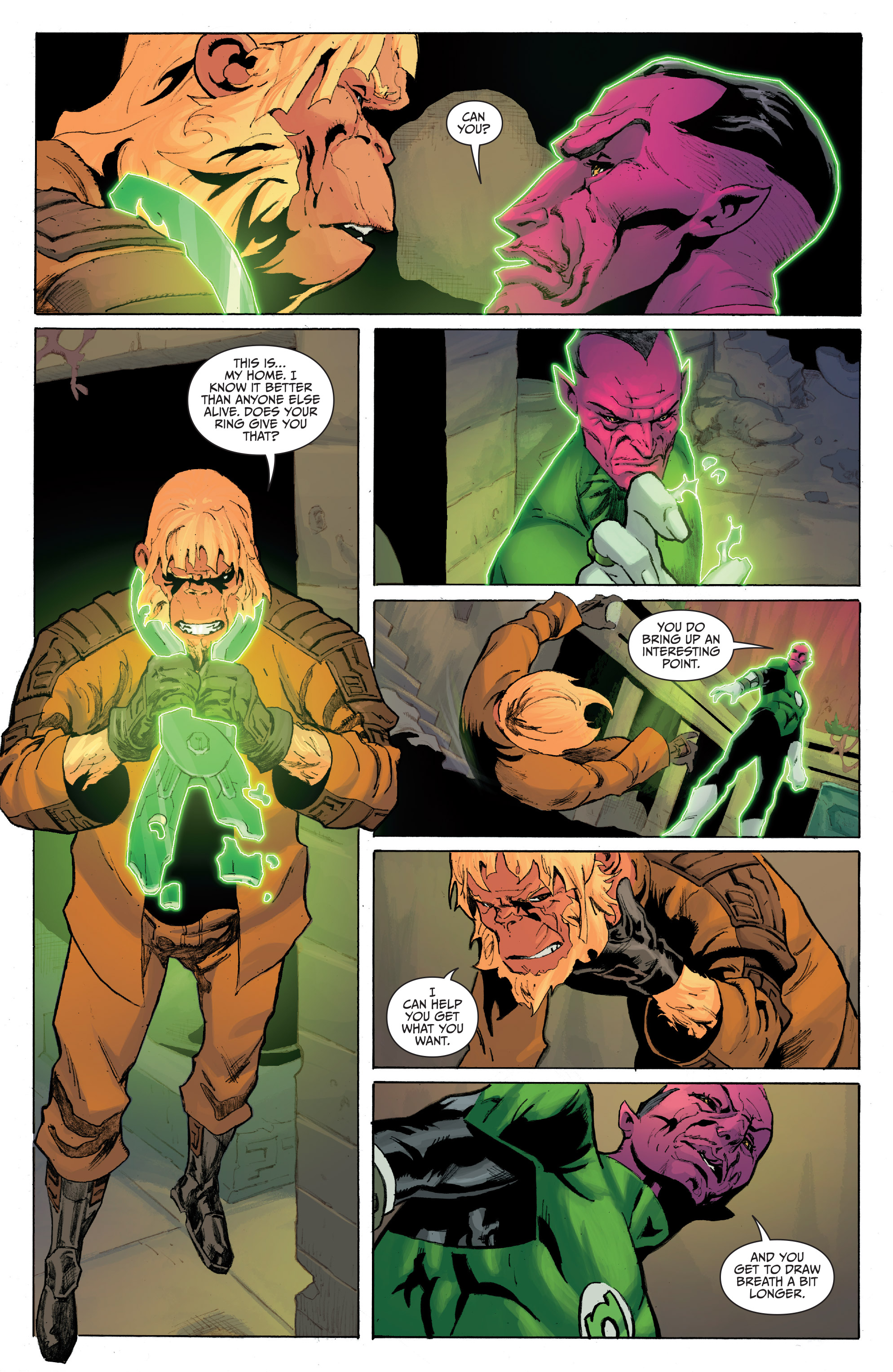 Read online Planet of the Apes/Green Lantern comic -  Issue #5 - 4