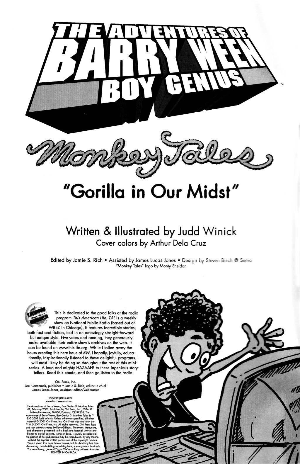 Read online The Adventures of Barry Ween, Boy Genius 3: Monkey Tales comic -  Issue #1 - 2