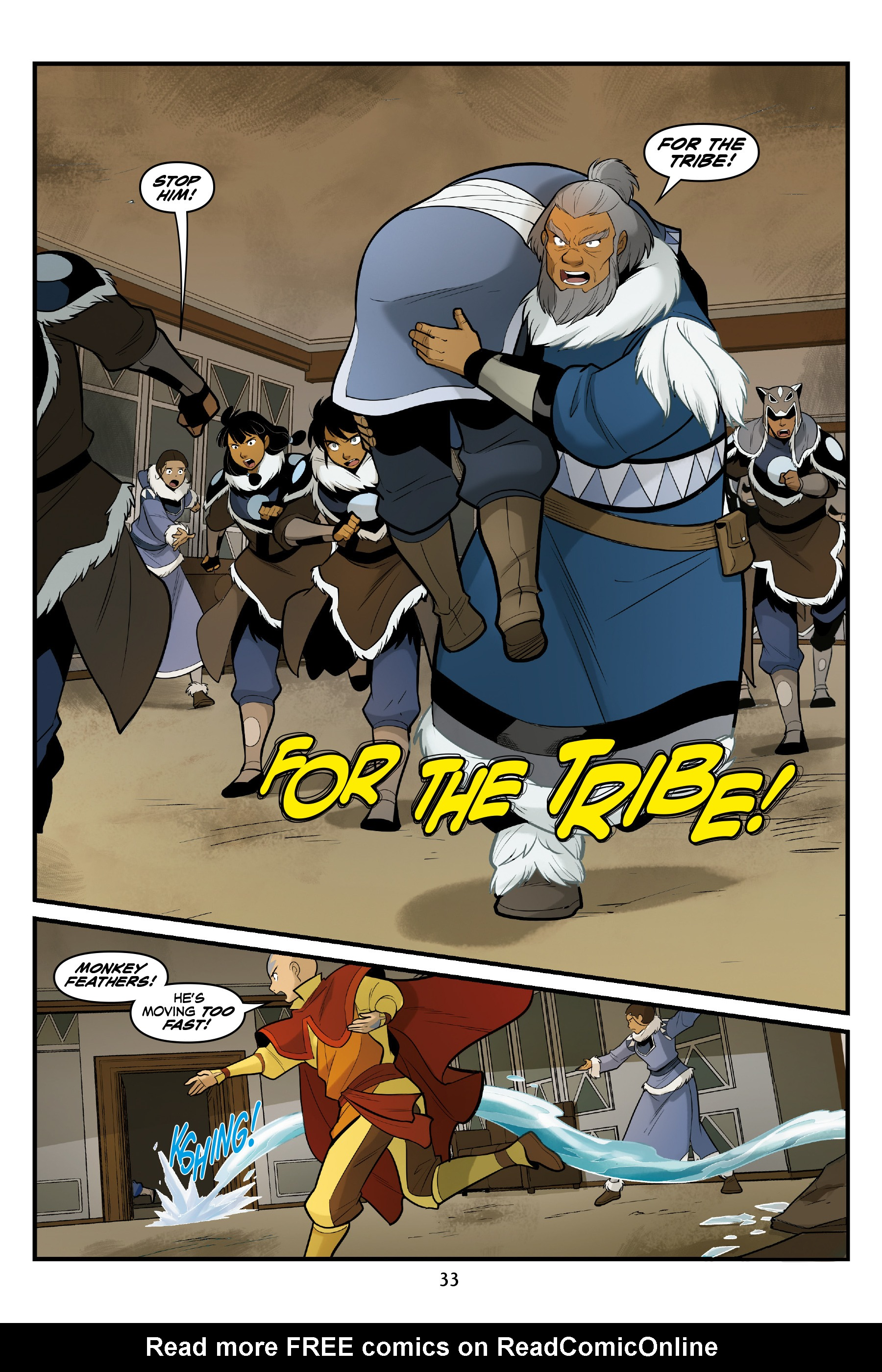 Read online Nickelodeon Avatar: The Last Airbender - North and South comic -  Issue #3 - 34