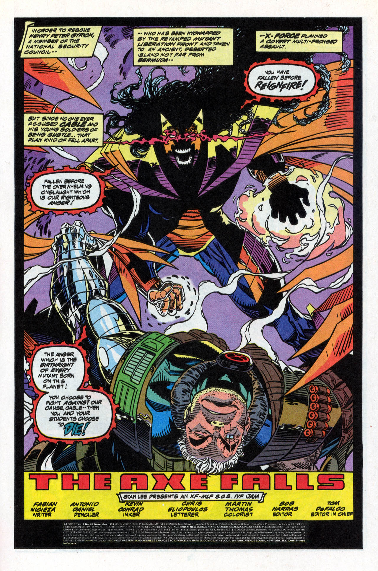 Read online X-Force (1991) comic -  Issue #28 - 3