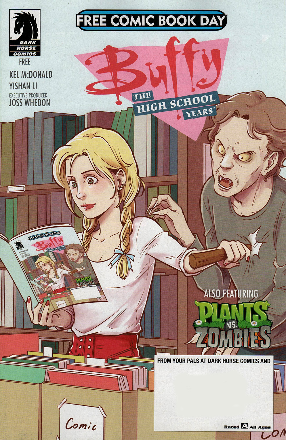 Read online Free Comic Book Day 2017 comic -  Issue # Buffy - Plants vs Zombies - 1