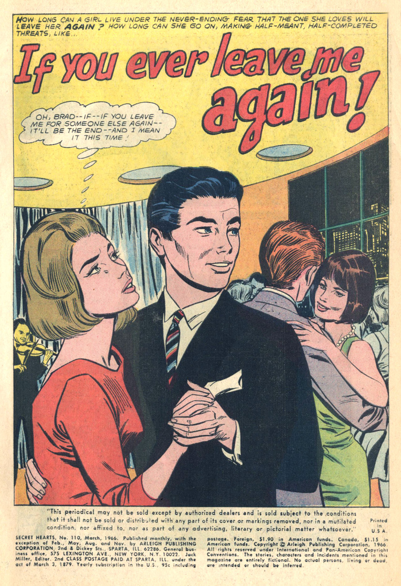 Read online Secret Hearts comic -  Issue #110 - 3