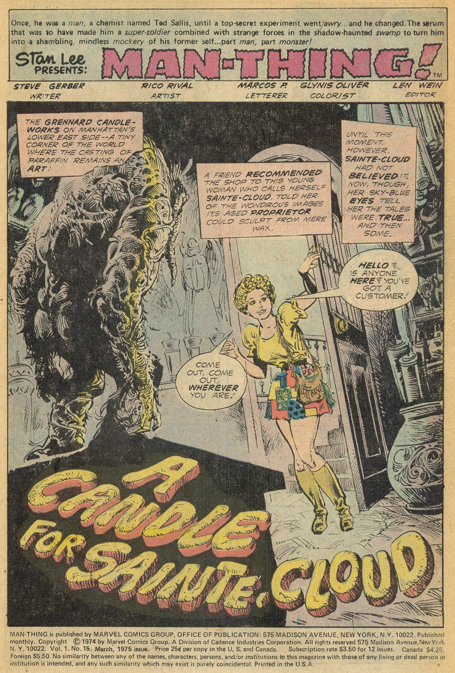 Man-Thing (1974) issue 15 - Page 2