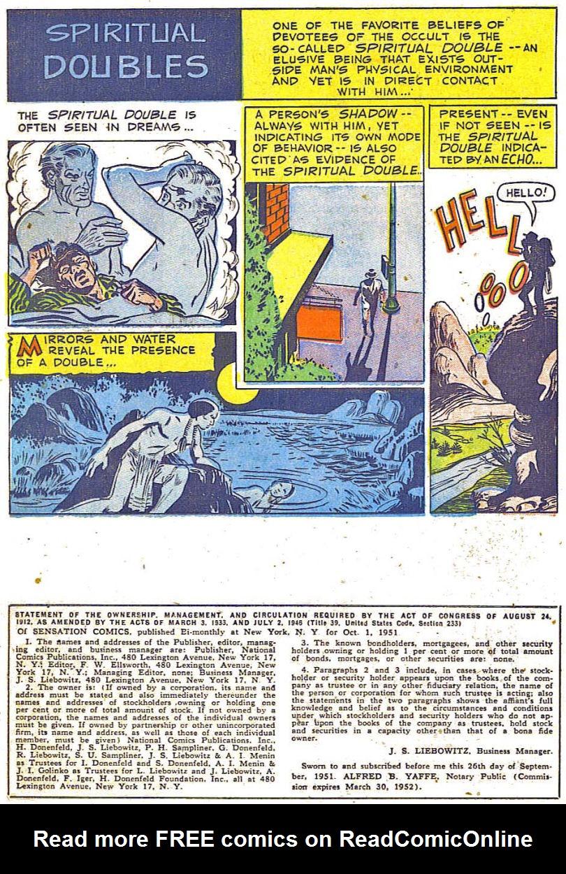 Read online Sensation (Mystery) Comics comic -  Issue #108 - 22