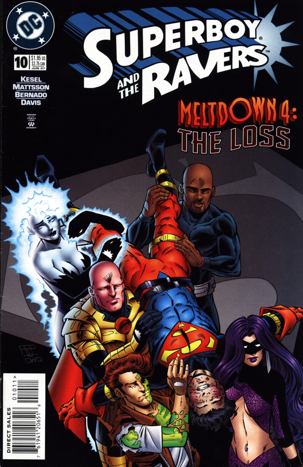 Read online Superboy & The Ravers comic -  Issue #10 - 1
