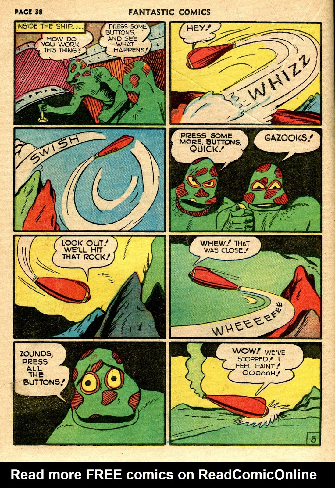 Read online Fantastic Comics comic -  Issue #21 - 36