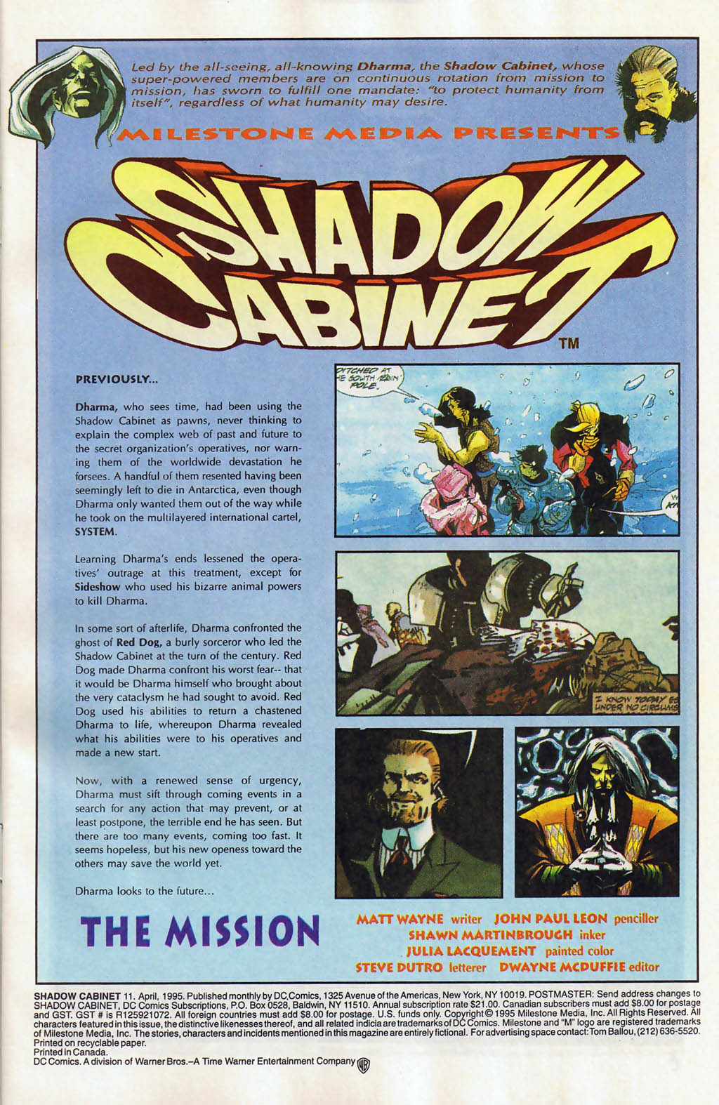 Read online Shadow Cabinet comic -  Issue #11 - 2
