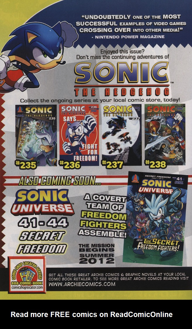 Read online Sonic the Hedgehog Free Comic Book Day Edition comic -  Issue # Special 6 - 34