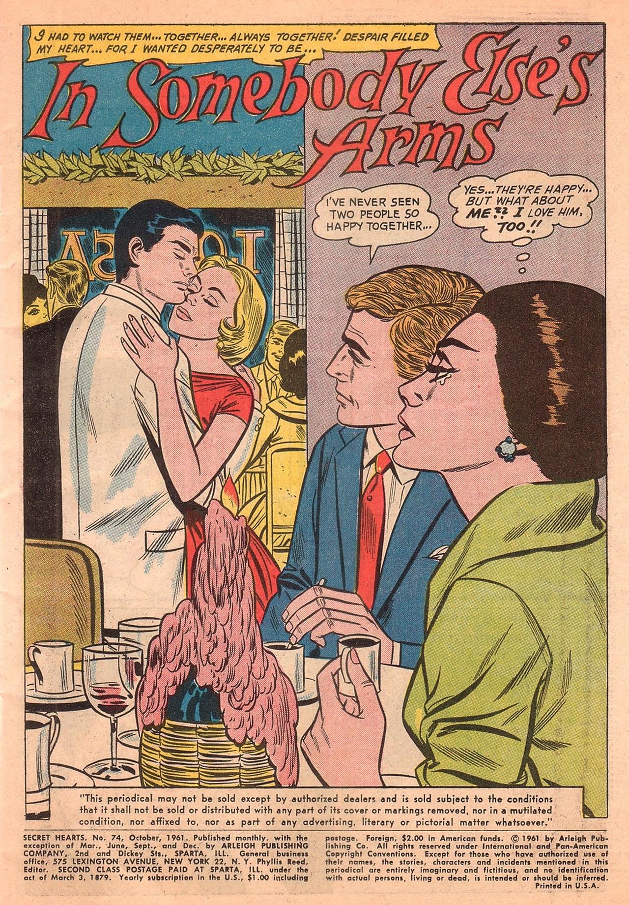 Read online Secret Hearts comic -  Issue #74 - 3