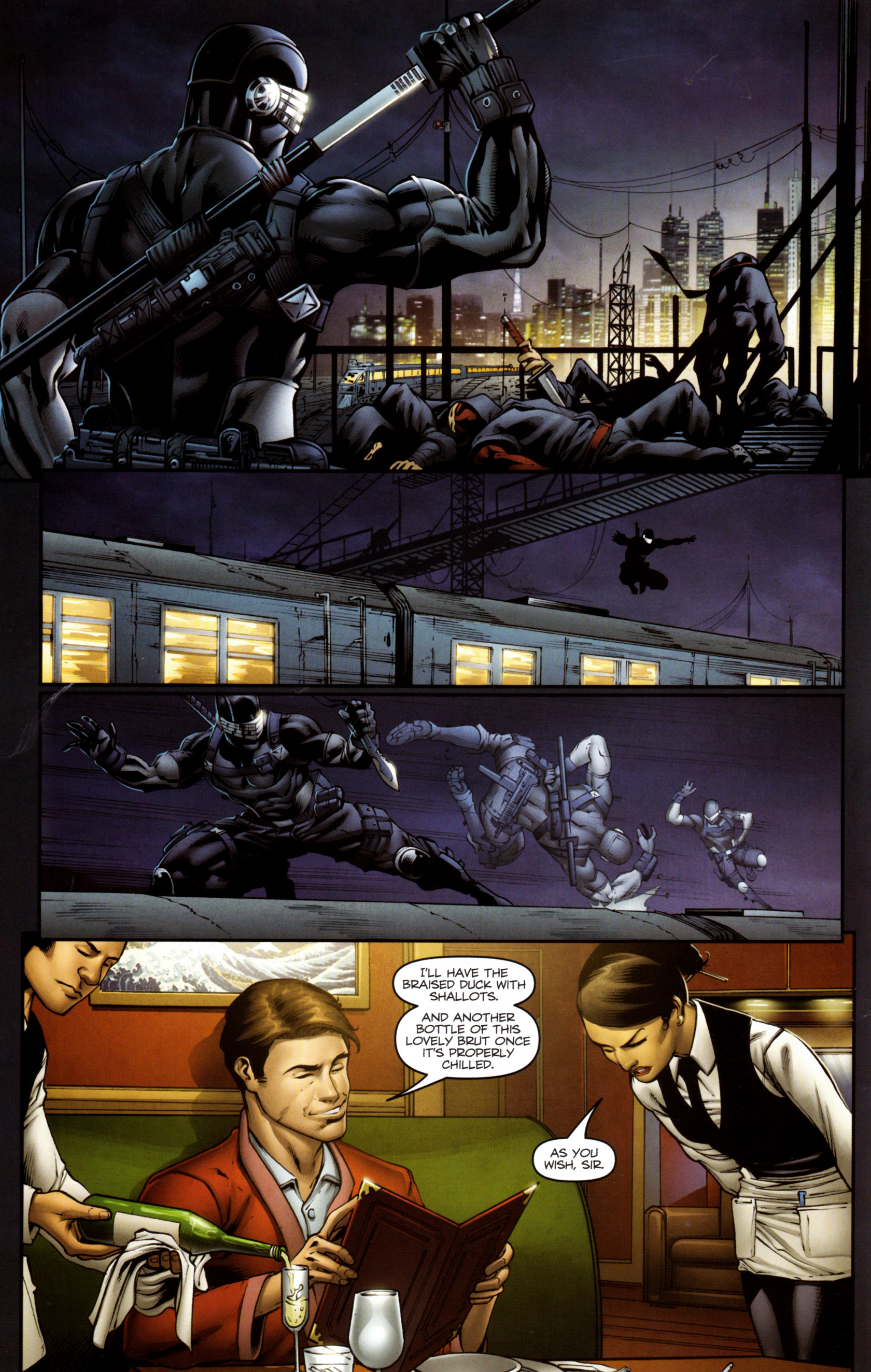 Read online Snake Eyes and Storm Shadow comic -  Issue #13 - 17