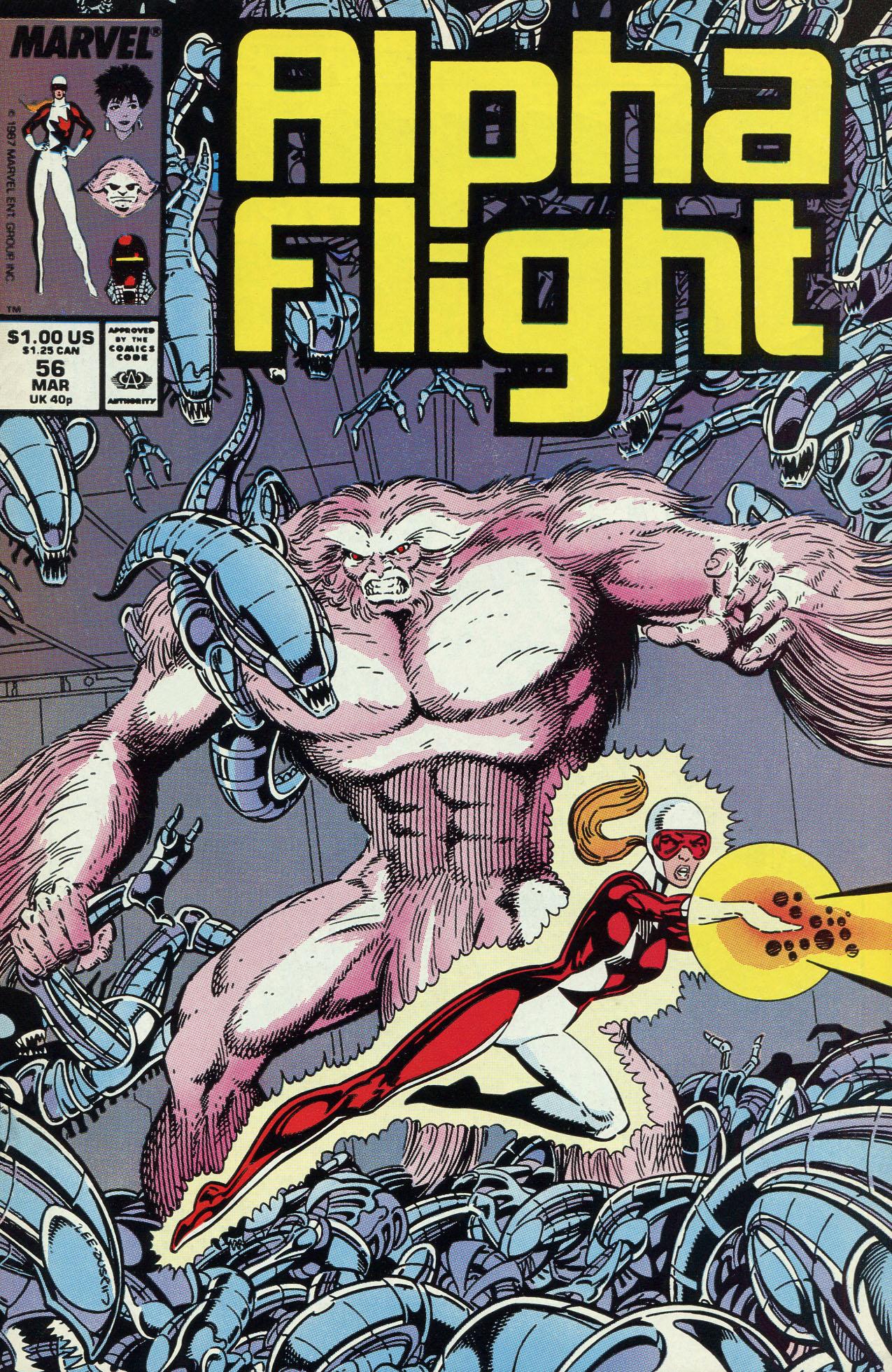 Read online Alpha Flight (1983) comic -  Issue #56 - 1