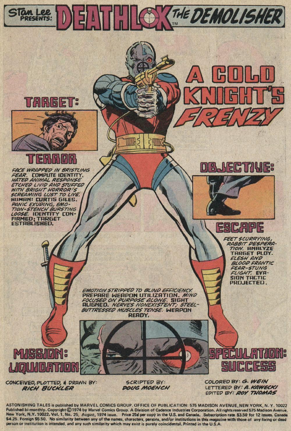 Read online Astonishing Tales (1970) comic -  Issue #25 - 2