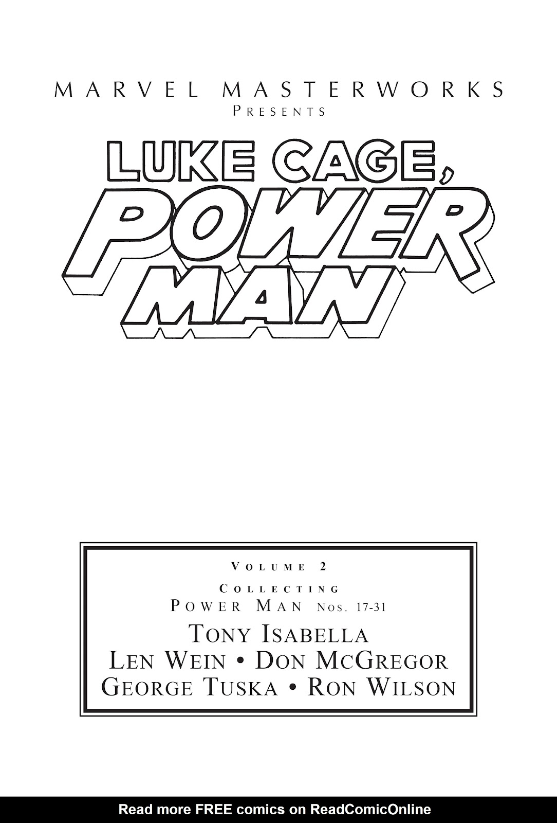 Read online Marvel Masterworks: Luke Cage, Power Man comic -  Issue # TPB 2 (Part 1) - 2