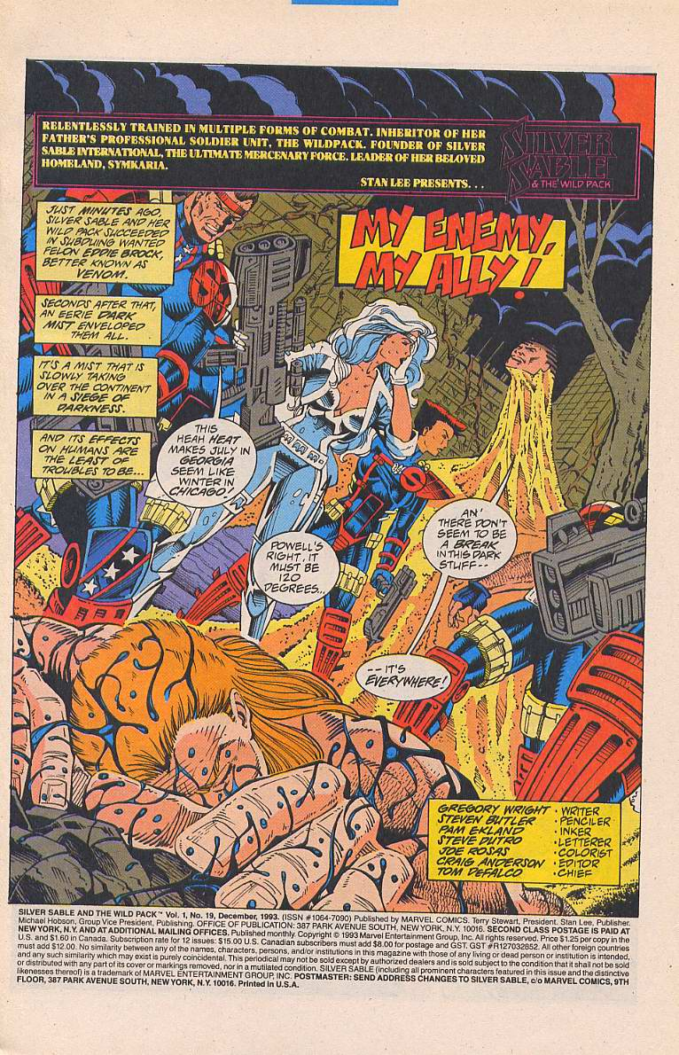 Read online Silver Sable and the Wild Pack comic -  Issue #19 - 2