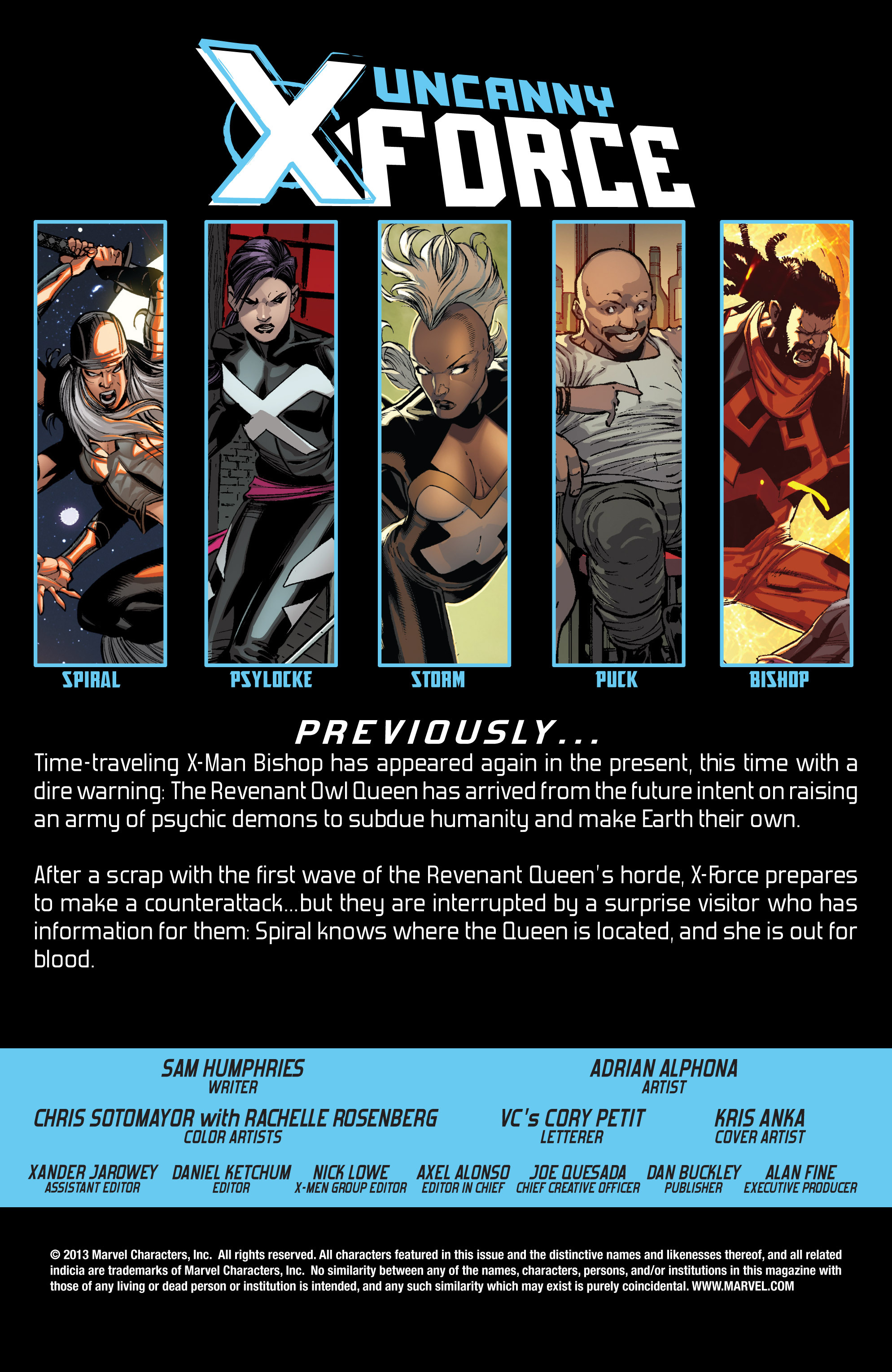 Read online Uncanny X-Force (2013) comic -  Issue #12 - 2