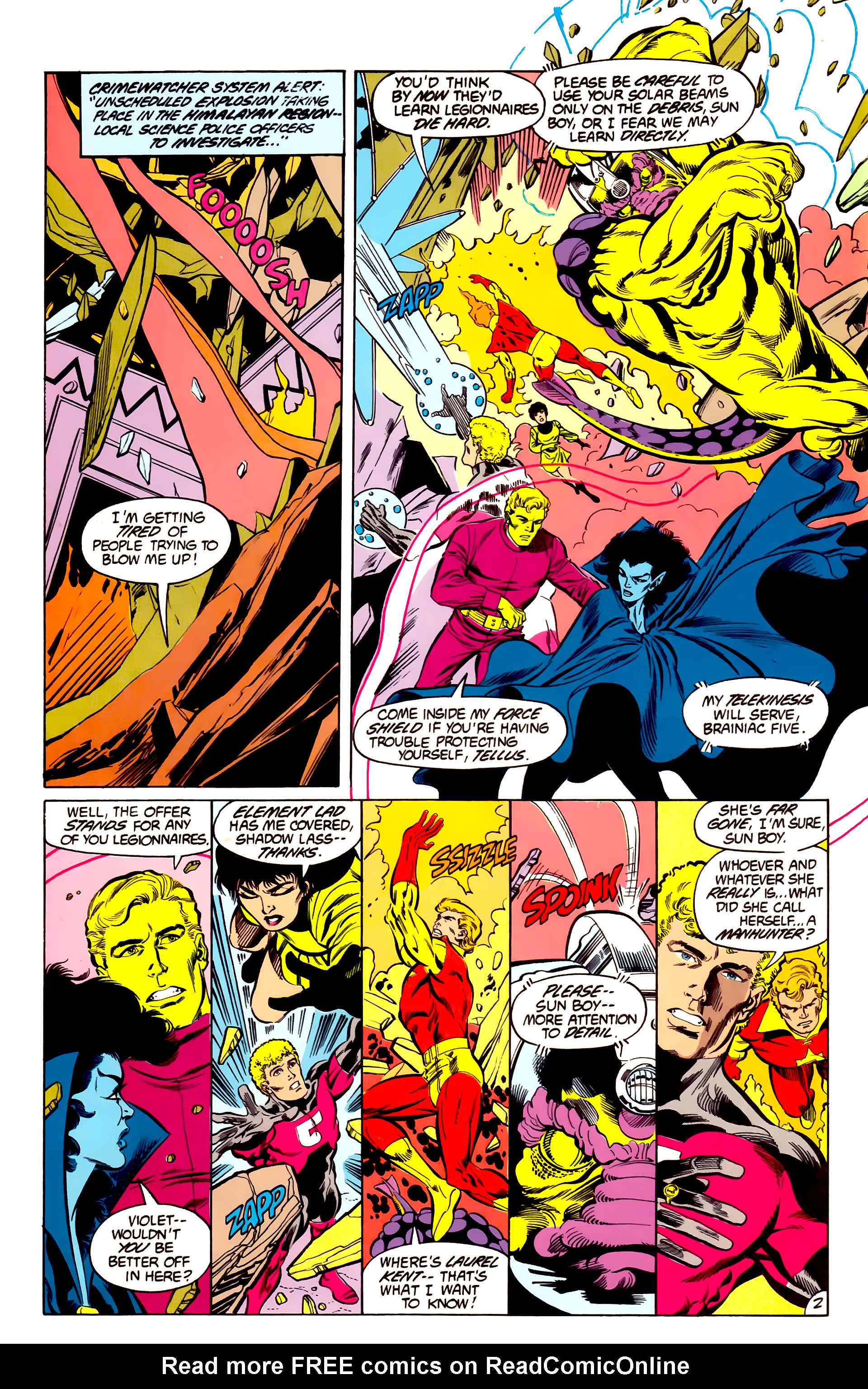 Legion of Super-Heroes (1984) 43 Page 2